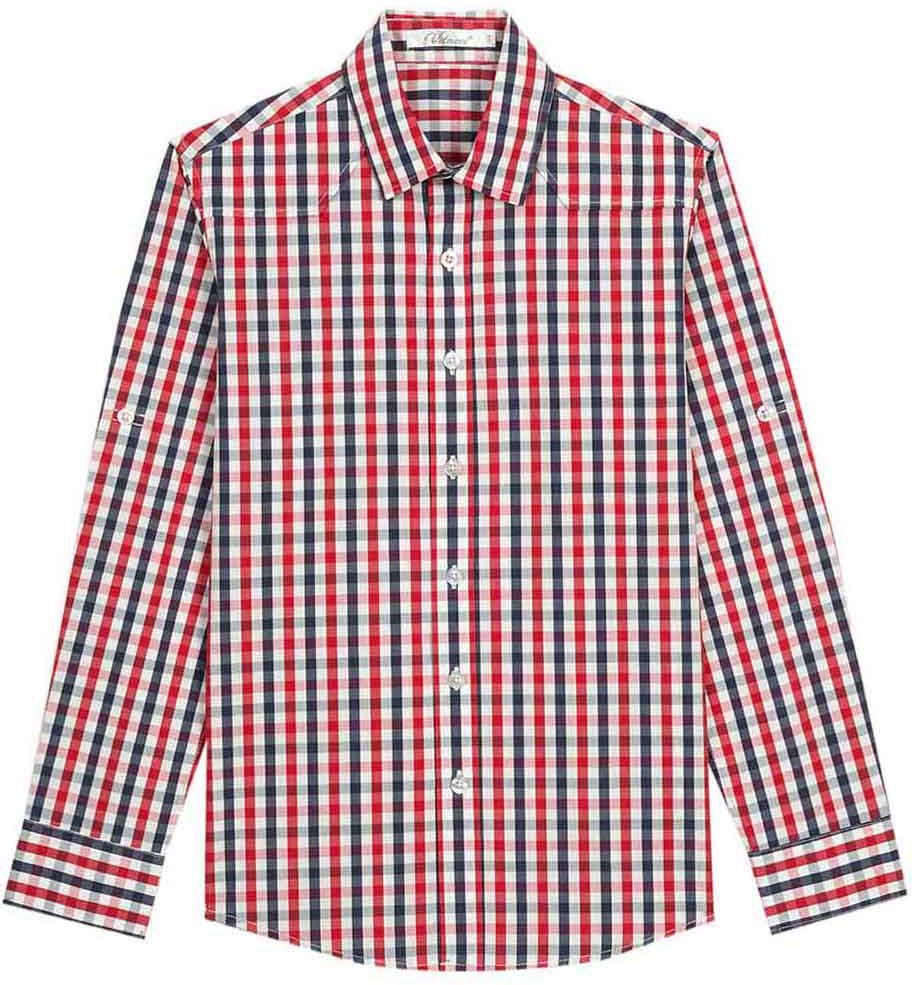 Рубашка для мальчика Vitacci, цвет: синий. 1172100-04. Размер 1461172100-04Модная клетчатая рубашка с длинным рукавом из высококачественного хлопка будет удачным выбором для мальчика-подростка. Отлично сочетается с джинсами и джинсовыми шортами.