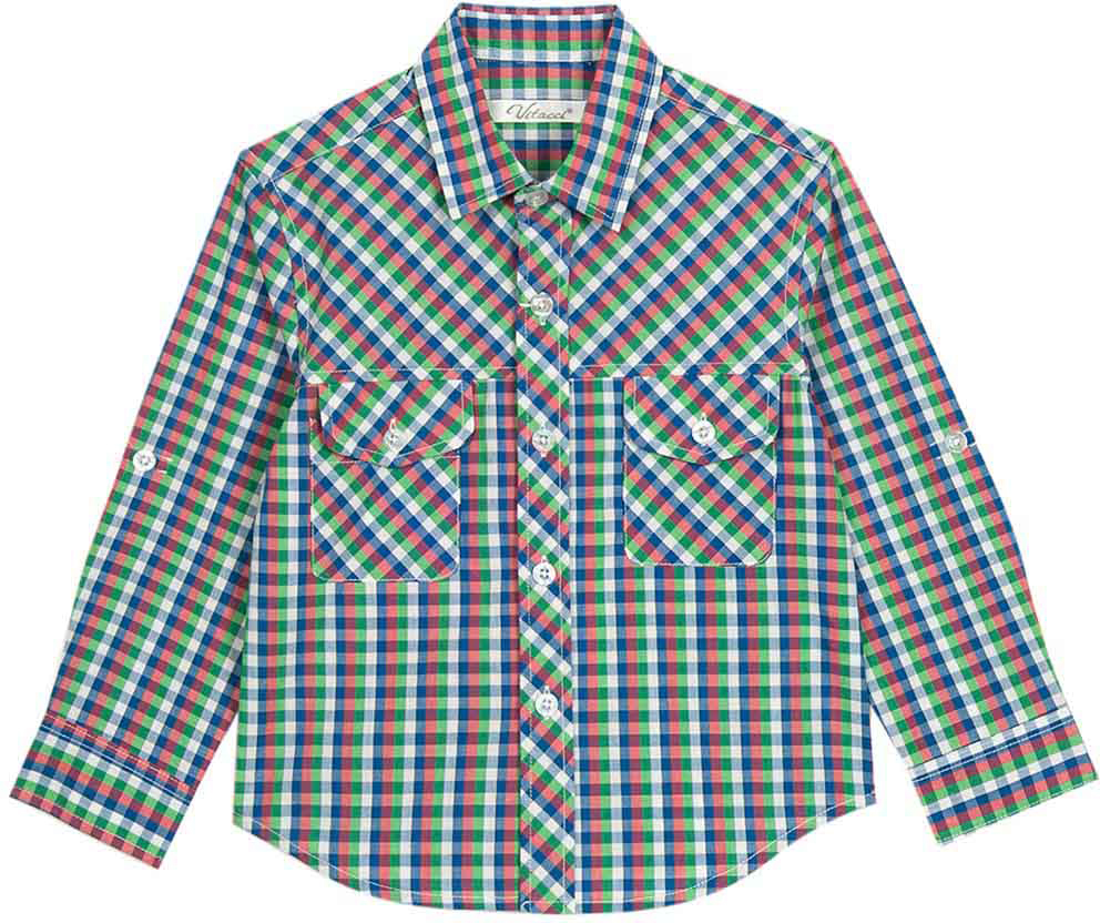 Рубашка для мальчика Vitacci, цвет: синий. 1172107-04. Размер 1221172107-04Модная клетчатая рубашка с длинным рукавом из высококачественного хлопка будет удачным выбором для мальчика-подростка. Отлично сочетается с джинсами и джинсовыми шортами.
