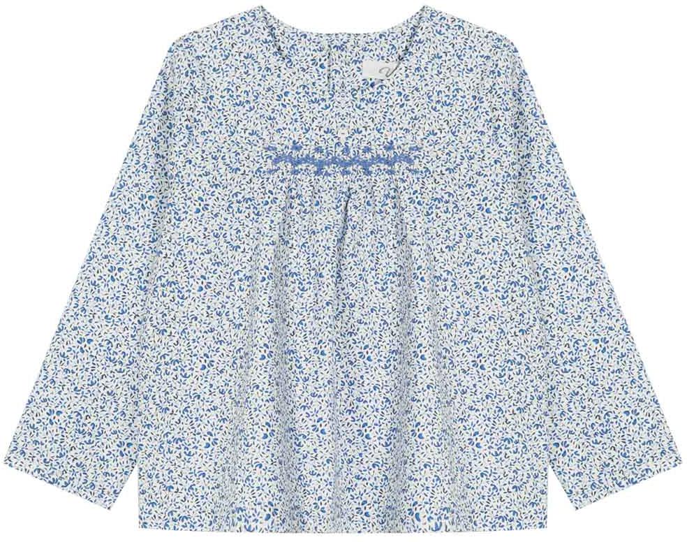 Туника для девочки Vitacci, цвет: синий. 2172008-04. Размер 1162172008-04Свободная туника из высококачественного хлопка понравится маленьким модницам, идеально сочетается с джинсами.