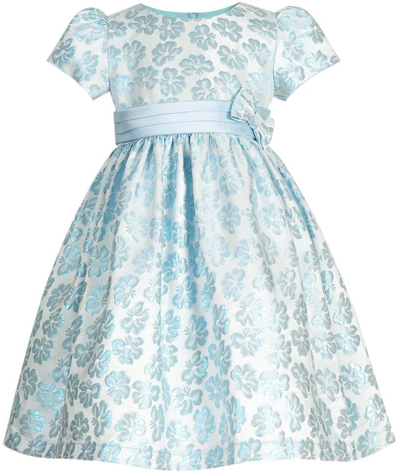 Платье для девочки Vitacci, цвет: голубой. 2172039-10. Размер 802172039-10Нарядное платье для маленькой принцессы с круглым вырезом горловины и короткими рукавами идеально подойдет для торжественного случая или праздничного мероприятия.