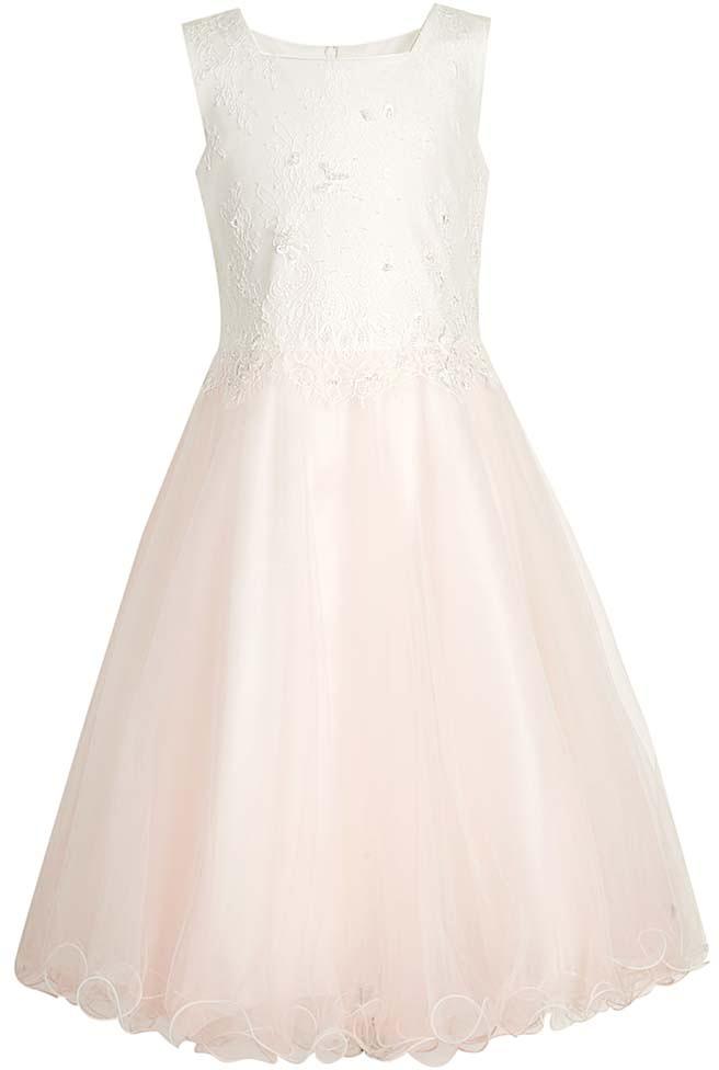 Платье для девочки Vitacci, цвет: розовый. 2172046-11. Размер 1202172046-11Замечательное платье для маленькой принцессы идеально подойдет для торжественного выхода в свет или детского праздника.