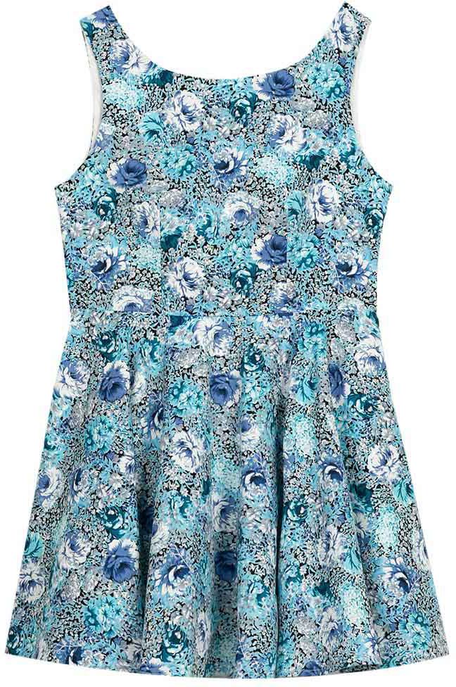 Платье для девочки Vitacci, цвет: голубой. 2172058-10. Размер 1522172058-10Платье для девочки из высококачественного хлопка - идеальный выбор для девочки на отдыхе в жаркий день !