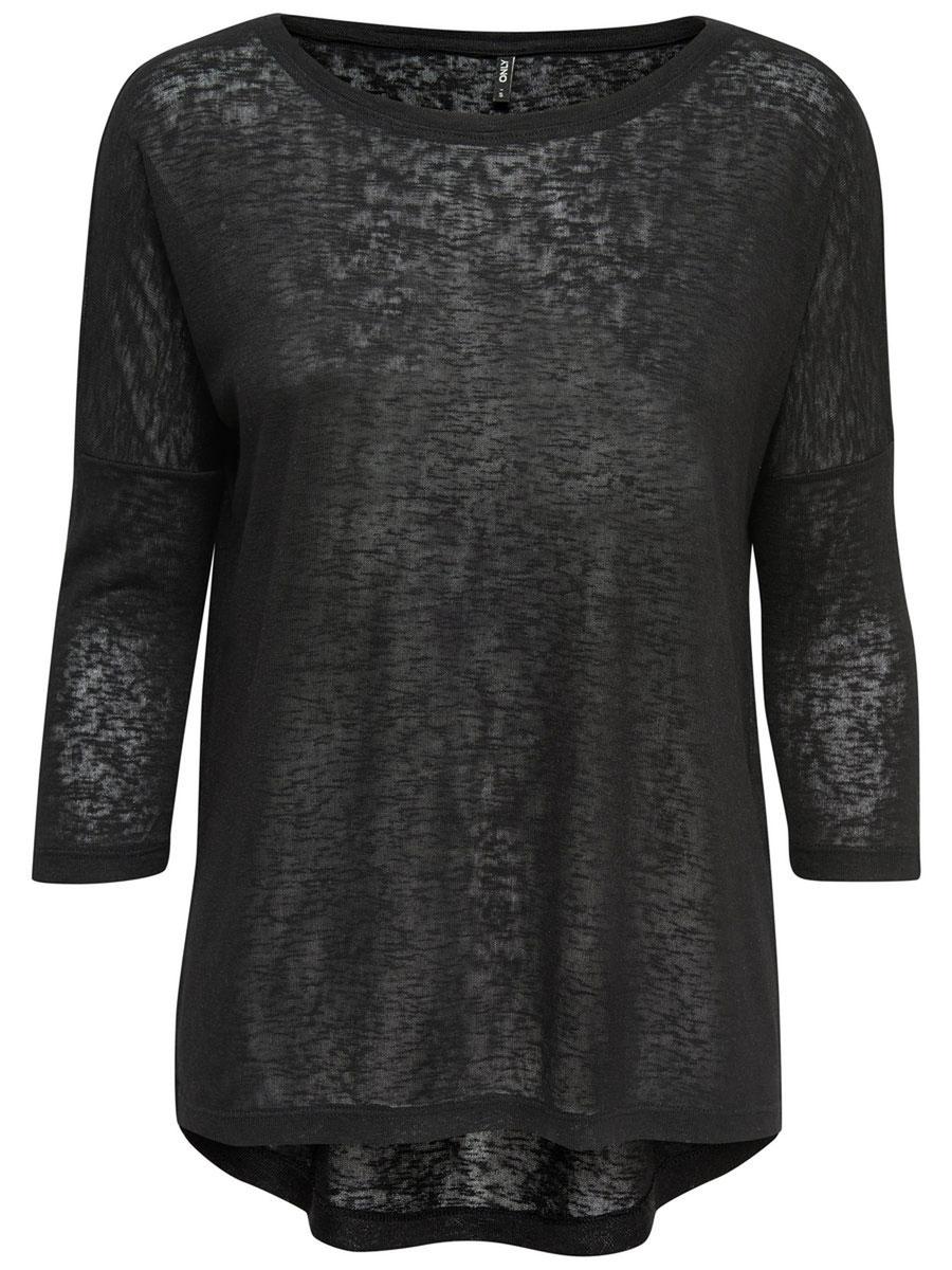Пуловер женский Only, цвет: черный. 15134891_Black. Размер L (48)15134891_BlackСтильный женский пуловер Only, изготовленный из высококачественного материала, не сковывает движения, обеспечивая наибольший комфорт. Модель с круглым вырезом горловины и длинными рукавами.Этот модный пуловер послужит отличным дополнением к вашему гардеробу, он станет главной составляющей вашего стиля. В нем вы всегда будете чувствовать себя уютно и комфортно.