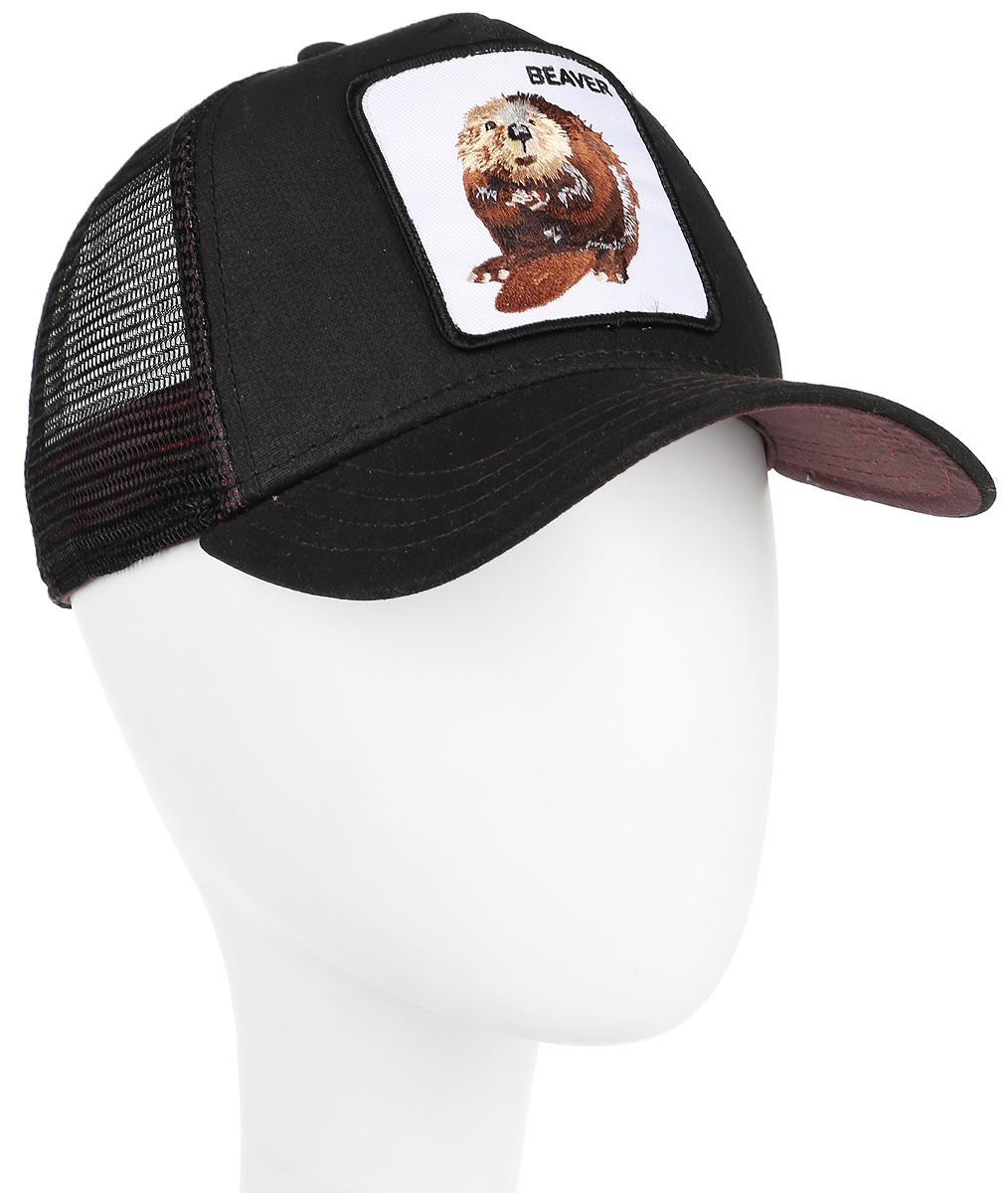 Бейсболка Goorin Brothers WAXED, цвет: черный. 91-186-09-00. Размер универсальный91-186-09-00Стильная бейсболка Goorin Brothers, выполненная из полиэстера и хлопка, идеально подойдет для прогулок, занятия спортом и отдыха. Она надежно защитит вас от солнца и ветра. Задняя часть имеет сетчатую вставку для вентиляции воздуха. Изделие оформлено нашивкой с изображением бобра и надписью Beaver. Обхват регулируется с помощью пластикового ремешка.