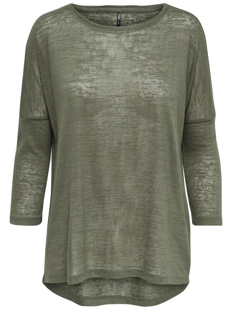 Пуловер женский Only, цвет: оливковый. 15134891_Kalamata. Размер M (46)15134891_KalamataСтильный женский пуловер Only, изготовленный из высококачественного материала, не сковывает движения, обеспечивая наибольший комфорт. Модель с круглым вырезом горловины и длинными рукавами.Этот модный пуловер послужит отличным дополнением к вашему гардеробу, он станет главной составляющей вашего стиля. В нем вы всегда будете чувствовать себя уютно и комфортно.