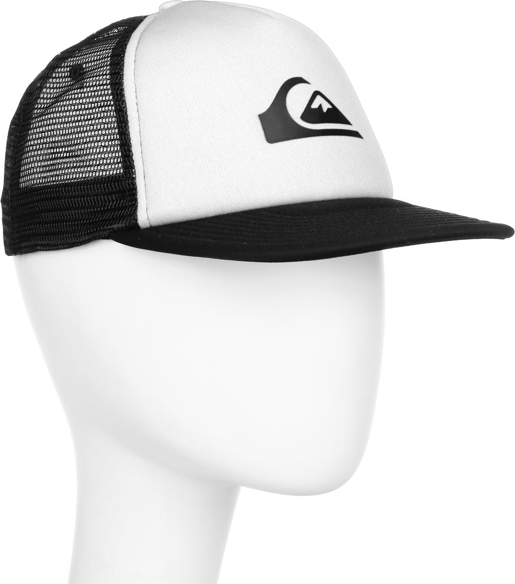 Бейсболка муж Quiksilver Snap Addict, цвет: белый, черный. AQYHA03528-WBB0. Размер универсальныйAQYHA03528-WBB0