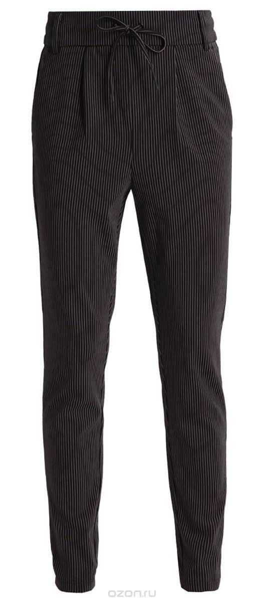 Брюки женские Only, цвет: черный. 15136433_Black. Размер S-34 (42/44-34)15136433_BlackЖенские брюки Only зауженного кроя. Модель выполнена из плотного трикотажа. Застежка на шнуровке.