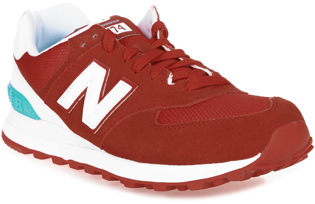 Кроссовки женские New Balance 574, цвет: красный, белый, бирюзовый. WL574CNC/B. Размер 7,5 (38)WL574CNC/BСтильные женские кроссовки от New Balance придутся вам по душе. Верх модели выполнен из высококачественныхматериалов. По бокам обувь оформлена декоративными элементами в виде фирменного логотипа бренда, на язычке - фирменной нашивкой, задник логотипом бренда. Классическая шнуровка надежно зафиксирует изделие на ноге. Подкладка и стелька, изготовленные из текстиля, гарантируют уют и предотвращают натирание. Подошва оснащена рифлением для лучшей сцепки с поверхностями. Удобные кроссовки займут достойное место среди коллекции вашей обуви.