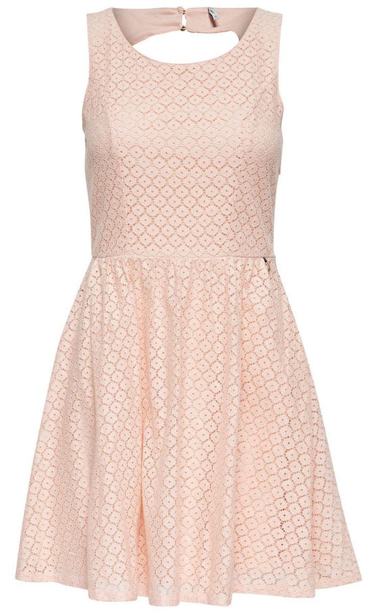 Платье женское Only, цвет: оранжевый. 15114482_Peachy Keen. Размер 42 (48)15114482_Peachy KeenСтильное платье Only, выполненное из высококачественного материала, прекрасный вариант для модных женщин, желающих подчеркнуть свою индивидуальность и хороший вкус. Модель без рукавов, с круглым вырезом горловины и открытой спиной сзади застегивается на две пуговице.Красивое и необычное платье сделает вас неотразимой и потрясающей.