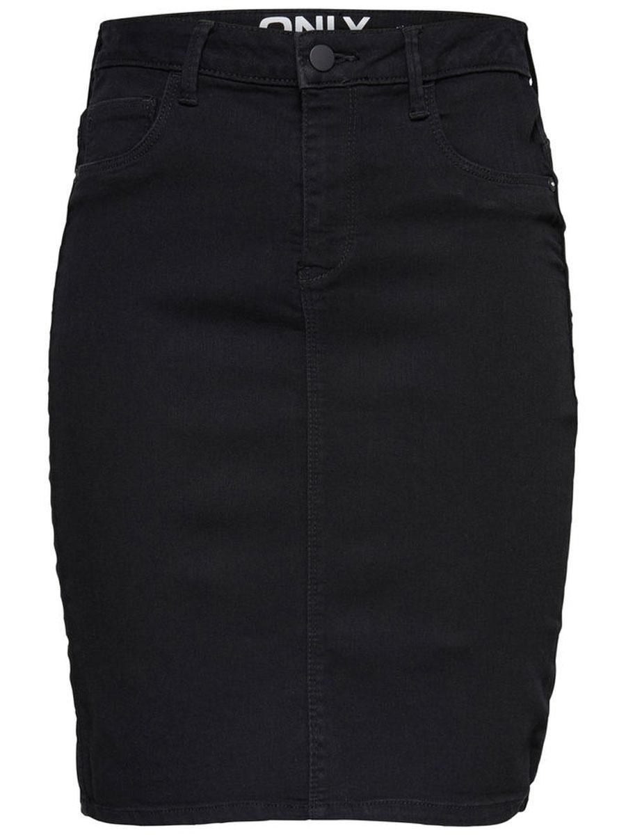 Юбка женская Only, цвет: черный. 15135040_Black. Размер S (42/44)15135040_BlackСтильная женская юбка Only, изготовлена из высококачественного материала, создана для модных и смелых девушек.Модель на застежке-молнии и пуговице оформлена спереди двумя втачными карманами. Сзади - двумя накладными карманами. На поясе имеются шлевки для ремня.В этой модной юбке вы будете чувствовать себя уверенно, оставаясь в центре внимания.