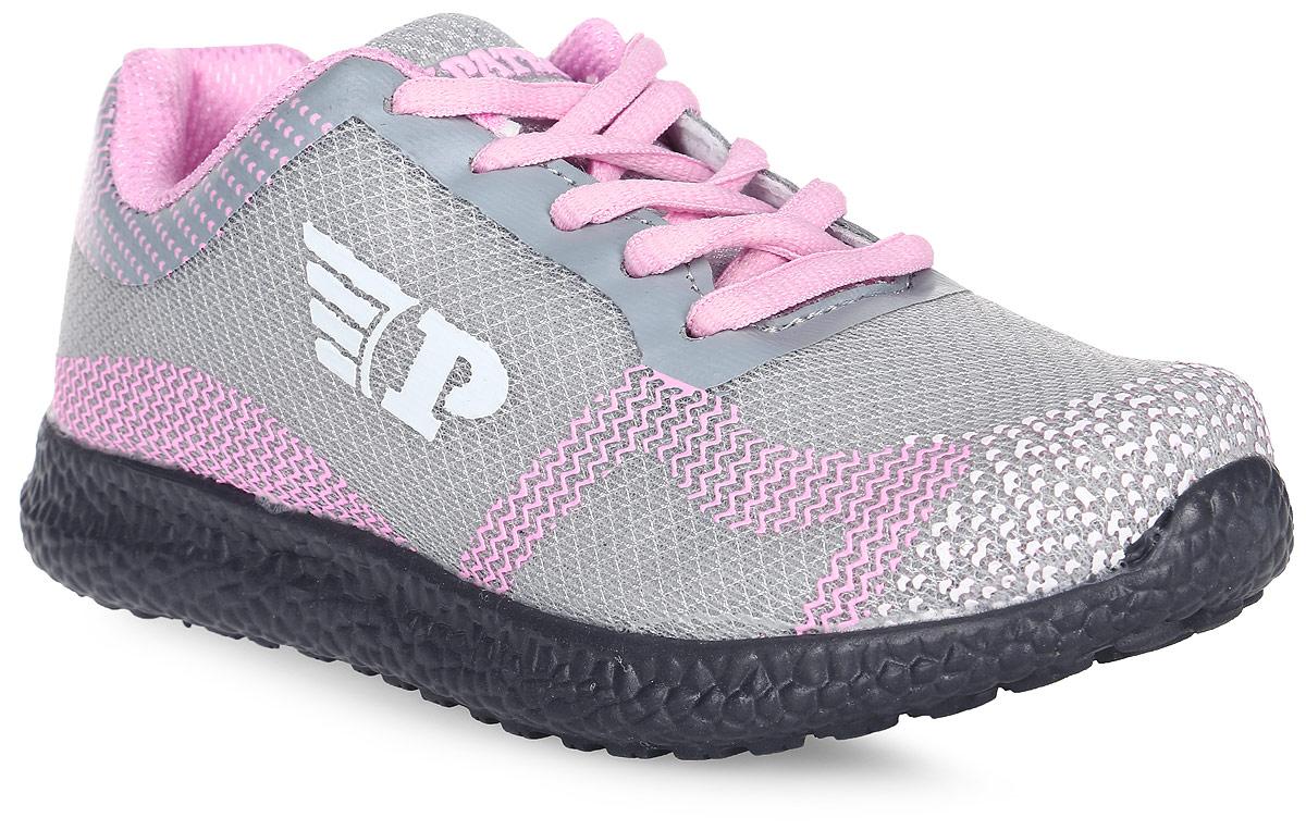 Кроссовки для девочки Patrol, цвет: светло-серый. 950-612T-17s-8-5. Размер 34950-612T-17s-8-5Стильные кроссовки от Patrol - отличный выбор для вашей малышки на каждый день. Верх модели выполнен из дышащего текстиля. Кроссовки оформлены изображением логотипа бренда. Шнуровка обеспечивает надежную фиксацию обуви на ноге. Подкладка и стелька из текстильного материала создают комфорт при носке. Подошва выполнена из легкого пенопропилена.Рифление на подошве обеспечивает отличное сцепление с любой поверхностью.Модные и комфортные кроссовки - необходимая вещь в гардеробе каждого ребенка