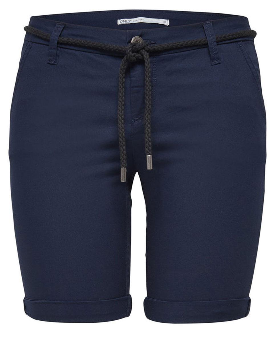 Шорты женские Only, цвет: синий. 15134356_Navy Blazer. Размер 34 (40)15134356_Navy BlazerСтильные женские шорты Only, изготовленные из высококачественного материала, созданы для модных девушек.Модель с ширинкой на молнии дополнительно застегивается на пуговицу. На поясе имеются шлевки для ремня. В этих модных шортах вы будете чувствовать себя уверенно, оставаясь в центре внимания.