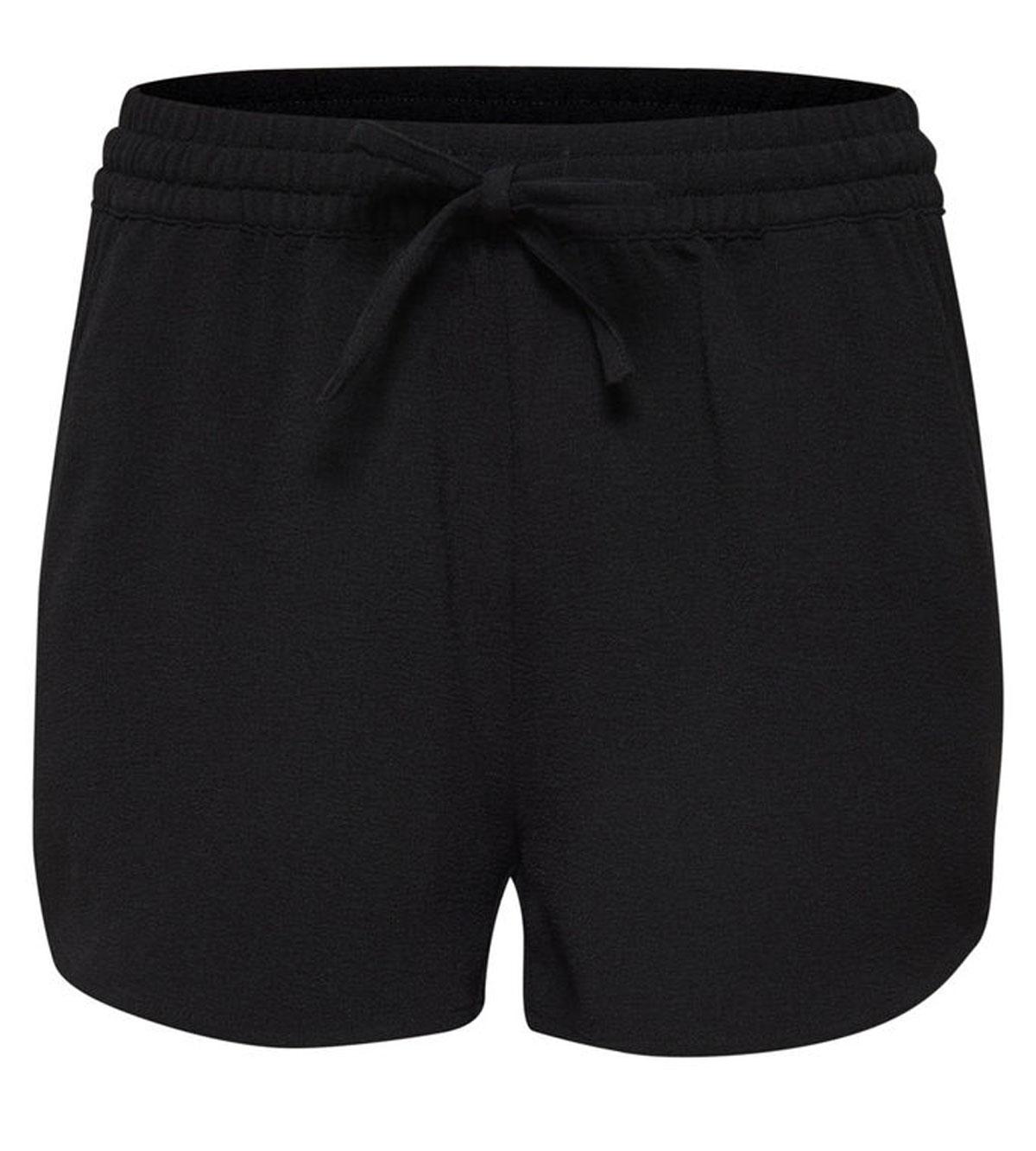Шорты женские Only, цвет: черный. 15123924_Black. Размер 36 (42)15123924_BlackСтильные женские шорты Only, изготовленные из высококачественного материала, созданы для модных и смелых девушек.Модель с резинкой на поясе и завязками. В этих модных шортах вы будете чувствовать себя уверенно, оставаясь в центре внимания.