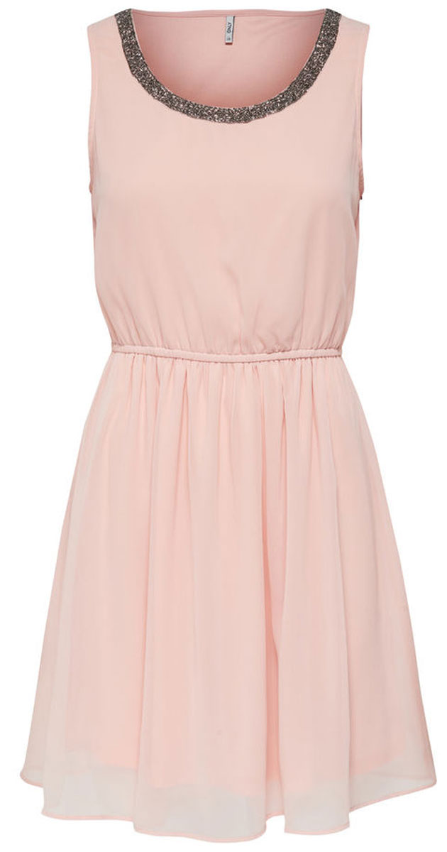 Платье женское Only, цвет: розовый. 15135571_Peach Whip. Размер 36 (42)15135571_Peach WhipСтильное платье Only, выполненное из высококачественного материала, прекрасный вариант для модных женщин, желающих подчеркнуть свою индивидуальность и хороший вкус. Модель без рукавов, с круглым вырезом горловины, застегивается на молнию сбоку. Платье приталенное на резинке, оно предаст еще более привлекательный силуэт своей владелице. Красивое и необычное платье сделает вас неотразимой и потрясающей.