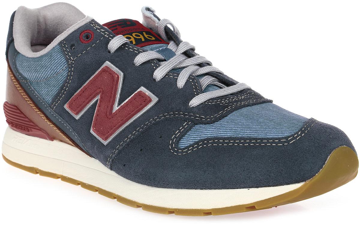 Кроссовки мужские New Balance 996, цвет: синий, коричневый. MRL996NF/D. Размер 11 (45)MRL996NF/DСтильные мужские кроссовки от New Balance придутся вам по душе. Верх модели выполнен из высококачественныхматериалов и дополнена контрастной прострочкой. По бокам обувь оформлена, декоративными элементами в виде фирменного логотипа бренда, на язычке - фирменной нашивкой, задник логотипом бренда. Классическая шнуровка надежно зафиксирует изделие на ноге. Мягкая верхняя часть и стелька, изготовленные из текстиля, гарантируют уют и предотвращают натирание. Подошва оснащена рифлением для лучшей сцепки с поверхностями. Удобные кроссовки займут достойное место среди коллекции вашей обуви.