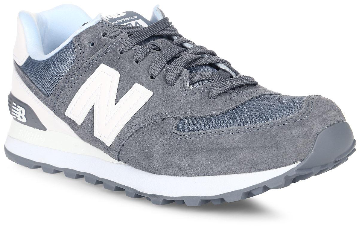 Кроссовки мужские New Balance 574, цвет: серый, белый. ML574CNC/D. Размер 10 (44)ML574CNC/DСтильные мужские кроссовки от New Balance придутся вам по душе. Верх модели выполнен из высококачественныхматериалов. По бокам обувь оформлена декоративными элементами в виде фирменного логотипа бренда, на язычке - фирменной нашивкой, задник логотипом бренда. Классическая шнуровка надежно зафиксирует изделие на ноге. Подкладка и стелька, изготовленные из текстиля, гарантируют уют и предотвращают натирание. Подошва оснащена рифлением для лучшей сцепки с поверхностями. Удобные кроссовки займут достойное место среди коллекции вашей обуви.