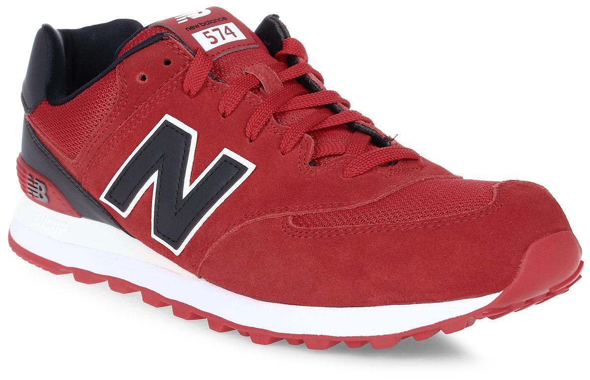 Кроссовки мужские New Balance 574, цвет: красный, черный. ML574CND/D. Размер 12 (46,5)ML574CND/DСтильные мужские кроссовки от New Balance придутся вам по душе. Верх модели выполнен из высококачественныхматериалов. По бокам обувь оформлена декоративными элементами в виде фирменного логотипа бренда, на язычке - фирменной нашивкой, задник логотипом бренда. Классическая шнуровка надежно зафиксирует изделие на ноге. Подкладка и стелька, изготовленные из текстиля, гарантируют уют и предотвращают натирание. Подошва оснащена рифлением для лучшей сцепки с поверхностями. Удобные кроссовки займут достойное место среди коллекции вашей обуви.