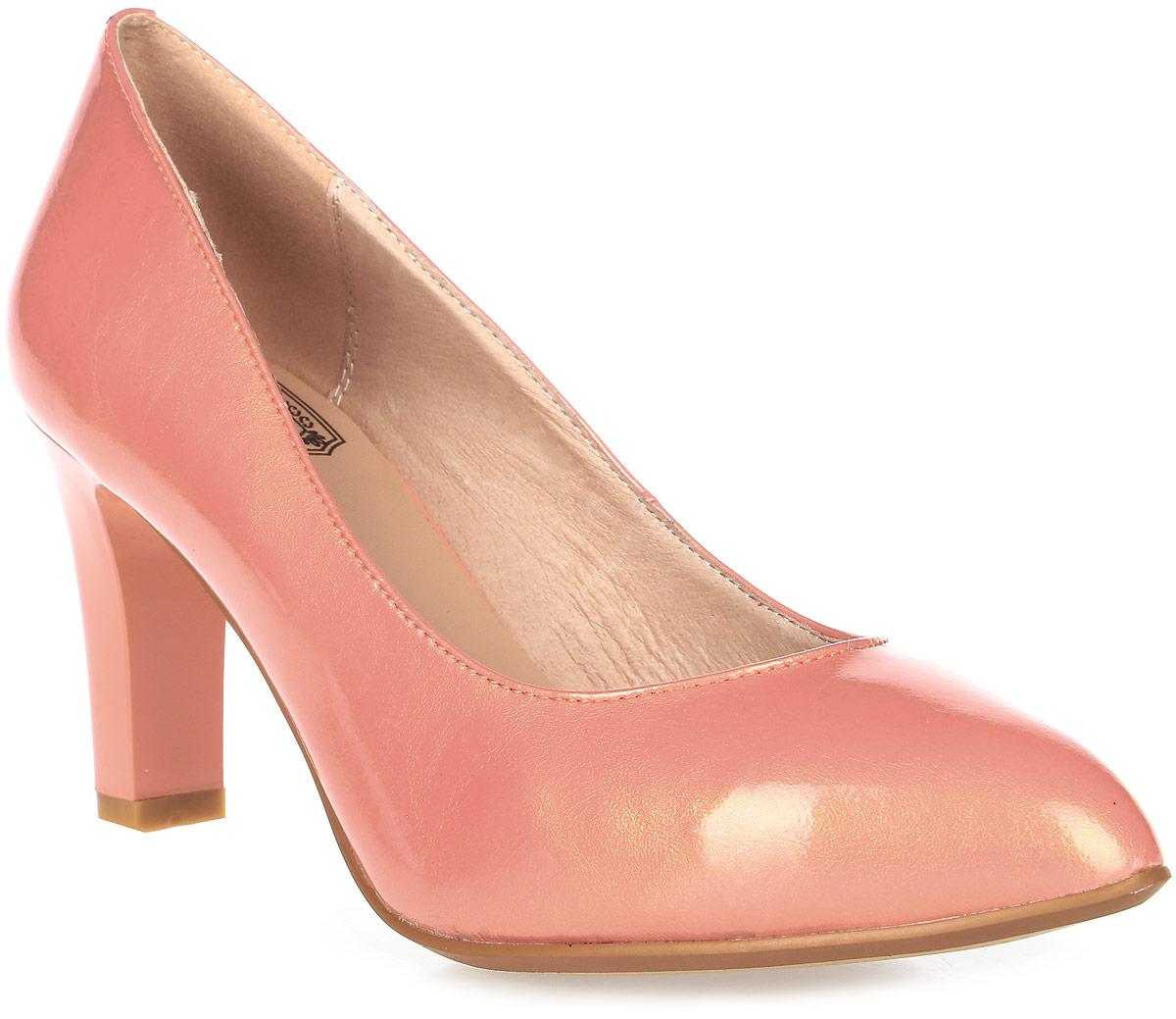 Туфли женские Palazzo Doro, цвет: розовый. S7E10-01-04. Размер 38S7E10-01-04Модные женские туфли от Palazzo Doro заинтересуют вас своим дизайном.Модель выполнена из высококачественной натуральной кожи. Зауженный носок смотрится стильно. Подкладка и стелька из натуральной кожи обеспечивают комфорт при движении.Подошва дополнена противоскользящим рифлением.Роскошные туфли помогут вам создать элегантный образ.