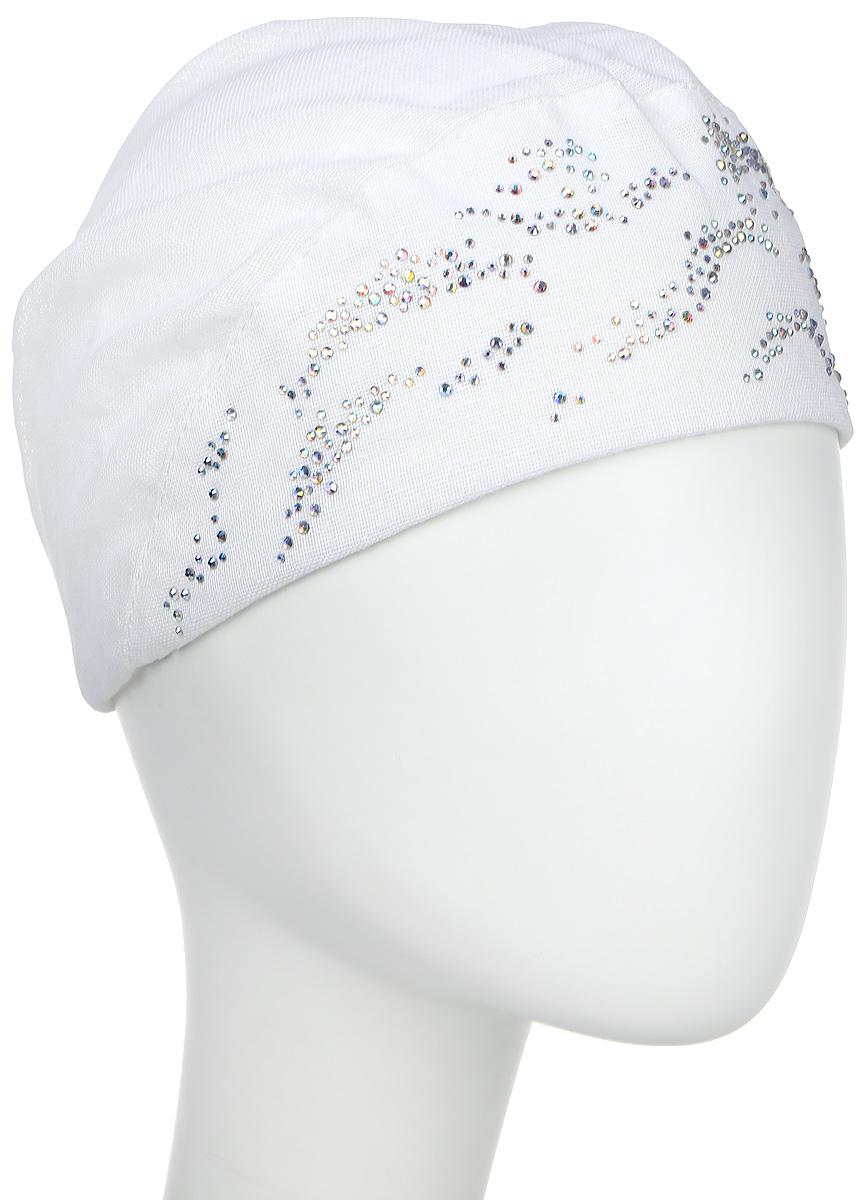 Бандана женская Level Pro, цвет: белый. 392497. Размер 56/58392497Бандана женская Level Pro изготовлена из качественного натурального льна. Ткань сзади собрана на внутреннюю резинку. Модель дополнена металлическими стразами.