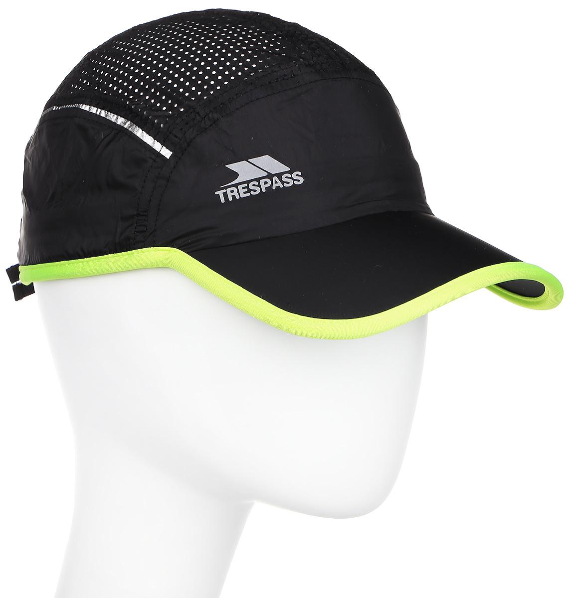 Бейсболка мужская Trespass Benzie, цвет: черный. UAHSHAL10001. Размер S\M (56/58)UAHSHAL10001Бейсболка Trespass Benzie выполнена из полиамида. Модель с изогнутым козырьком оформлена логотипом бренда.