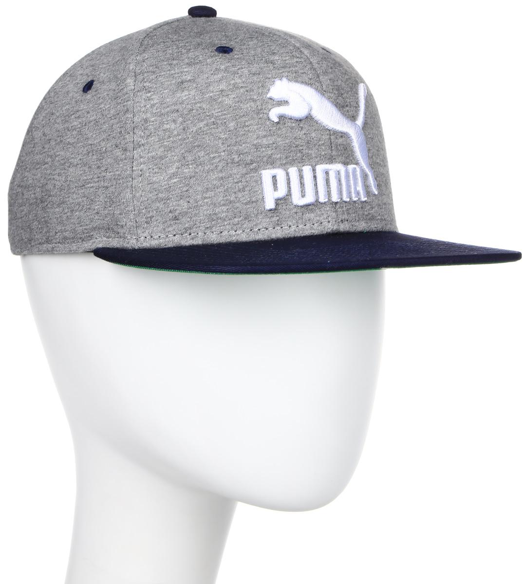 Бейсболка мужская Puma LS ColourBlock SnapBack, цвет: серый. 05294225. Размер универсальный052942_25Стильная бейсболка Puma LS ColourBlock SnapBack идеально подойдет для прогулок, занятий спортом и отдыха.Бейсболка выполнена из 100% хлопка, снабжена впитывающей внутренней отделкой и имеет плотный плоский козырек. Модель дополнена специальными отверстиями, обеспечивающими необходимую вентиляцию. Бейсболка на фронтальной части декорирована вышитым объемным логотипом PUMA, а застежка сзади имеет тканый ярлык с символикой PUMA. Объем бейсболки регулируется при помощи пластиковой застежки на кнопках. Такая бейсболка станет отличным аксессуаром и дополнит ваш повседневный образ.