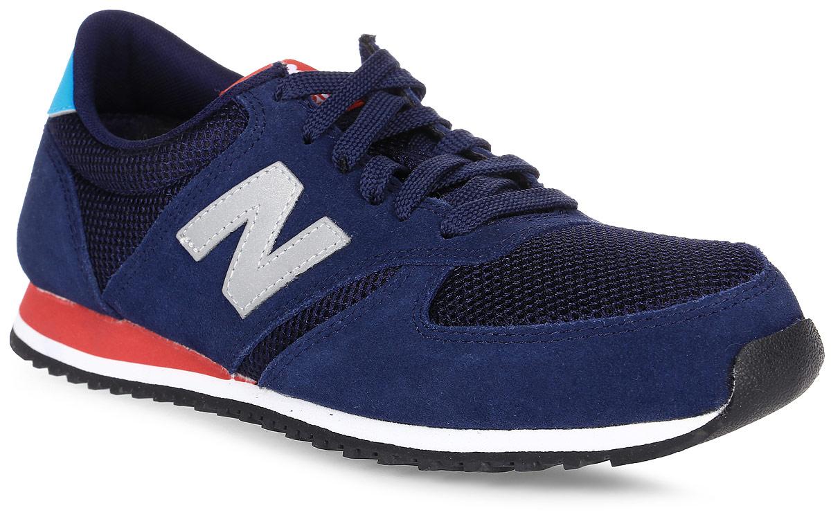 Кроссовки мужские New Balance 420, цвет: синий. U420NST/D. Размер 10 (44)U420NST/DСтильные мужские кроссовки от New Balance придутся вам по душе. Верх модели выполнен из высококачественныхматериалов. По бокам обувь оформлена декоративными элементами в виде фирменного логотипа бренда, на язычке - фирменной нашивкой, задник логотипом бренда. Классическая шнуровка надежно зафиксирует изделие на ноге. Подкладка и стелька, изготовленные из текстиля, гарантируют уют и предотвращают натирание. Подошва оснащена рифлением для лучшей сцепки с поверхностями. Удобные кроссовки займут достойное место среди коллекции вашей обуви.