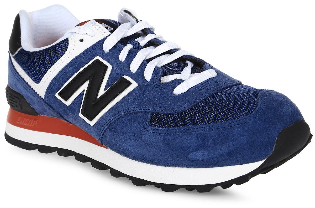 Кроссовки мужские New Balance 574, цвет: синий. ML574MOY/D. Размер 8 (41,5)ML574MOY/DСтильные мужские кроссовки от New Balance придутся вам по душе. Верх модели выполнен из высококачественныхматериалов. По бокам обувь оформлена,контрастными, декоративными элементами в виде фирменного логотипа бренда, на язычке - фирменной нашивкой, задник логотипом бренда. Классическая шнуровка надежно зафиксирует изделие на ноге. Мягкая верхняя часть и стелька, изготовленные из текстиля, гарантируют уют и предотвращают натирание. Подошва оснащена рифлением для лучшей сцепки с поверхностями. Удобные кроссовки займут достойное место среди коллекции вашей обуви.