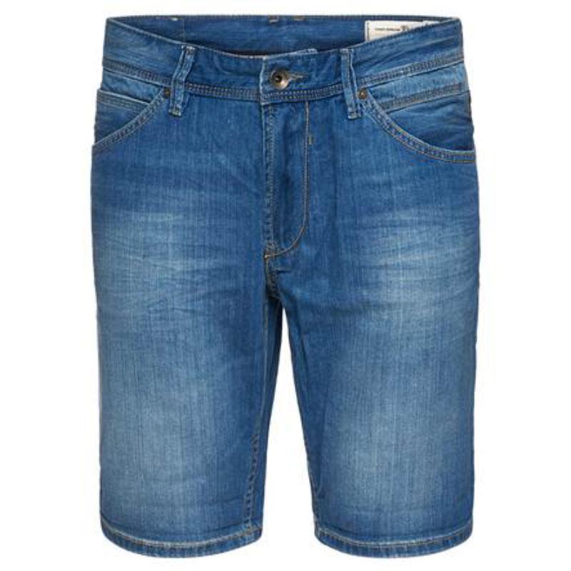 Шорты мужские Tom Tailor, цвет: синий. 6205293.09.12_1051. Размер M (48)6205293.09.12_1051Джинсовые шорты Tom Tailor выполнены из 100% хлопка. Модель прямого кроя застегивается на молнию и пуговицу, имеет шлевки для ремня и карманы.