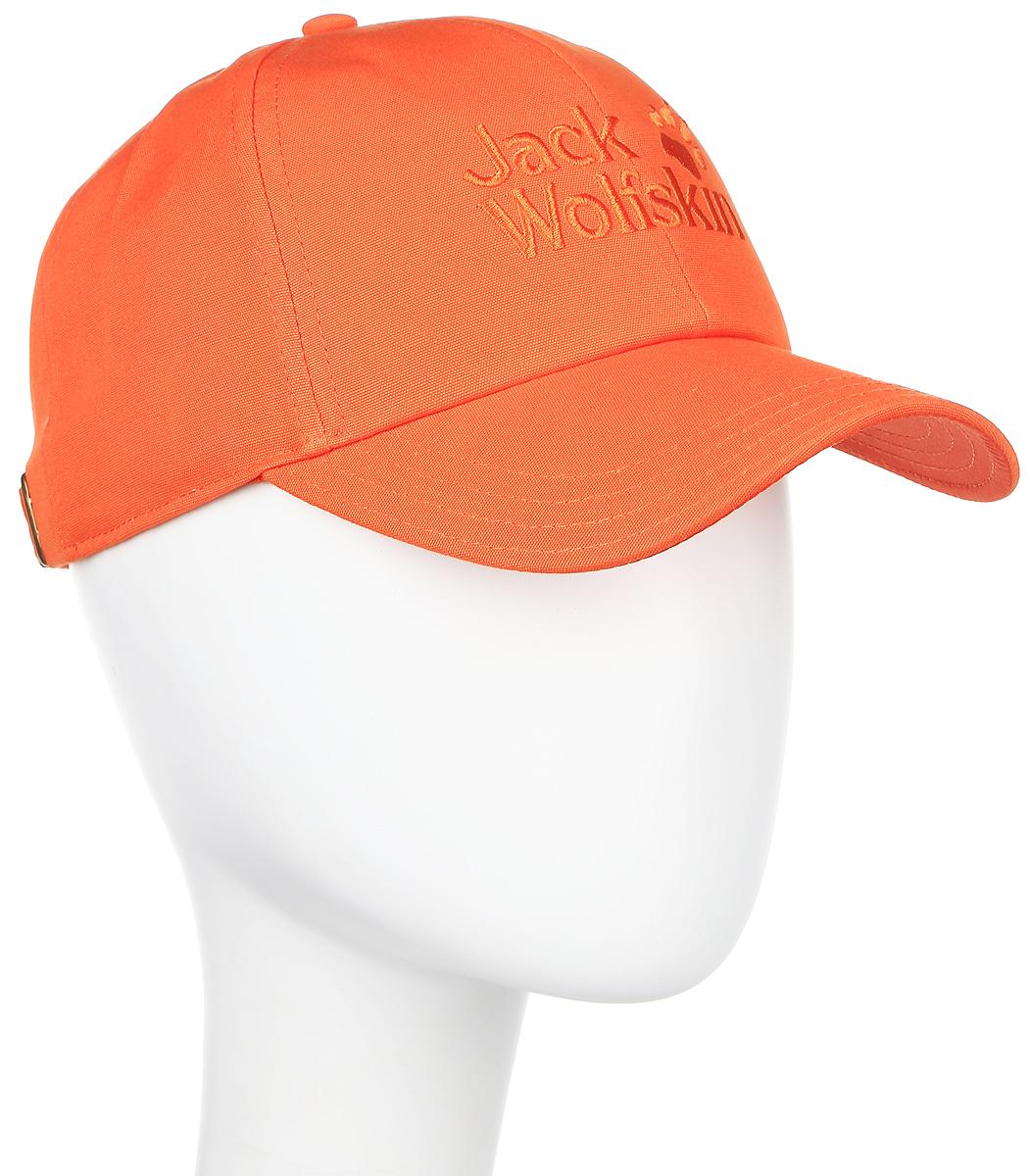 Бейсболка Jack Wolfskin Baseball Cap, цвет: оранжевый. 1900671-3727. Размер 56/611900671-3727Бейсболка Baseball Cap - это классика, выполненная из 100% натурального хлопка. Ткань дышащая, прочная и комфортная в носке. Модель идеально подходит на все случаи жизни. Бейсболка выполнена в однотонном дизайне и дополнена вышивкой с логотипом бренда.