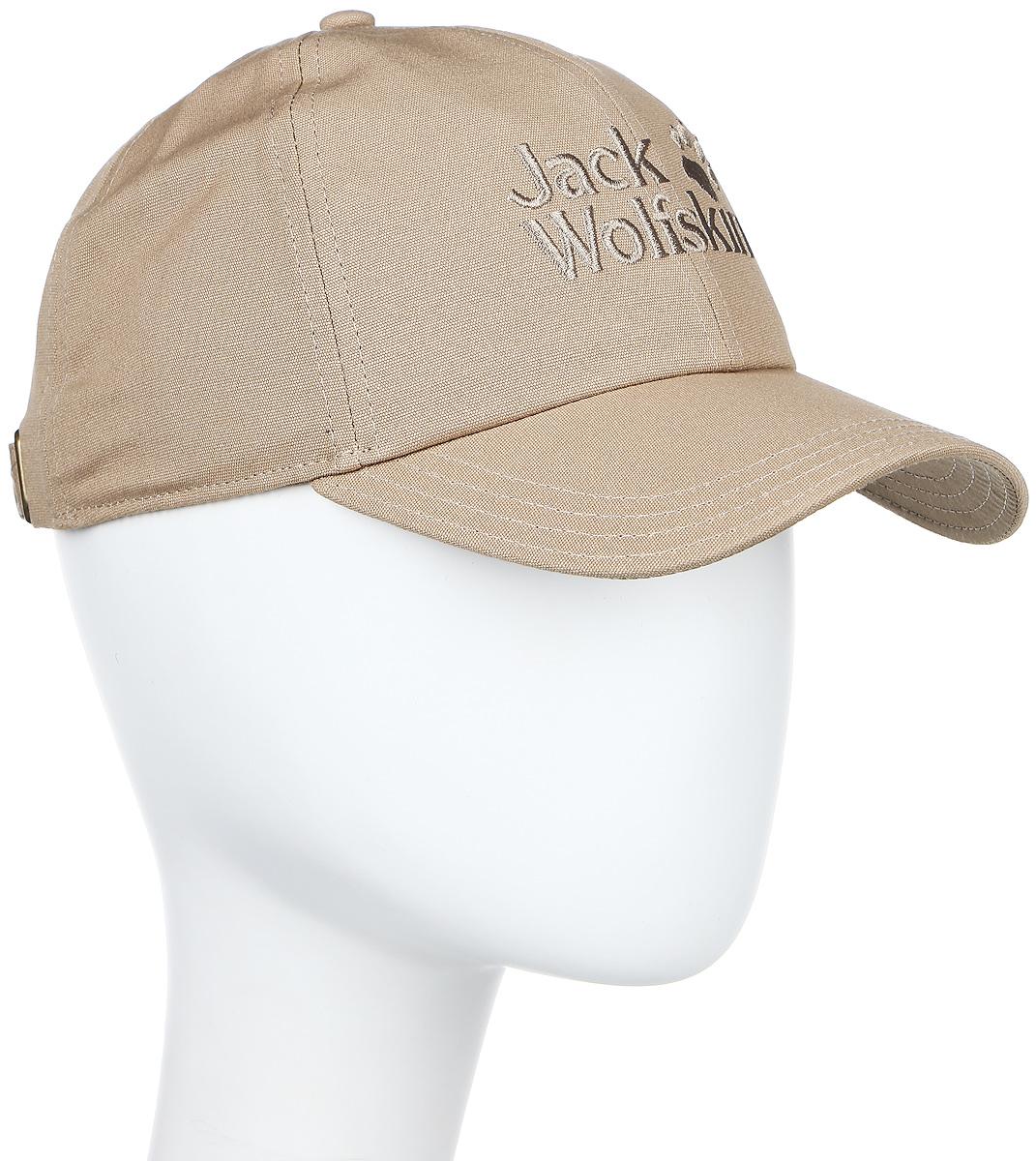 Бейсболка Jack Wolfskin Baseball Cap, цвет: песочный. 1900671-5605. Размер 56/611900671-5605Бейсболка Baseball Cap - это классика, выполненная из 100% натурального хлопка. Ткань дышащая, прочная и комфортная в носке. Модель идеально подходит на все случаи жизни. Бейсболка выполнена в однотонном дизайне и дополнена вышивкой с логотипом бренда.