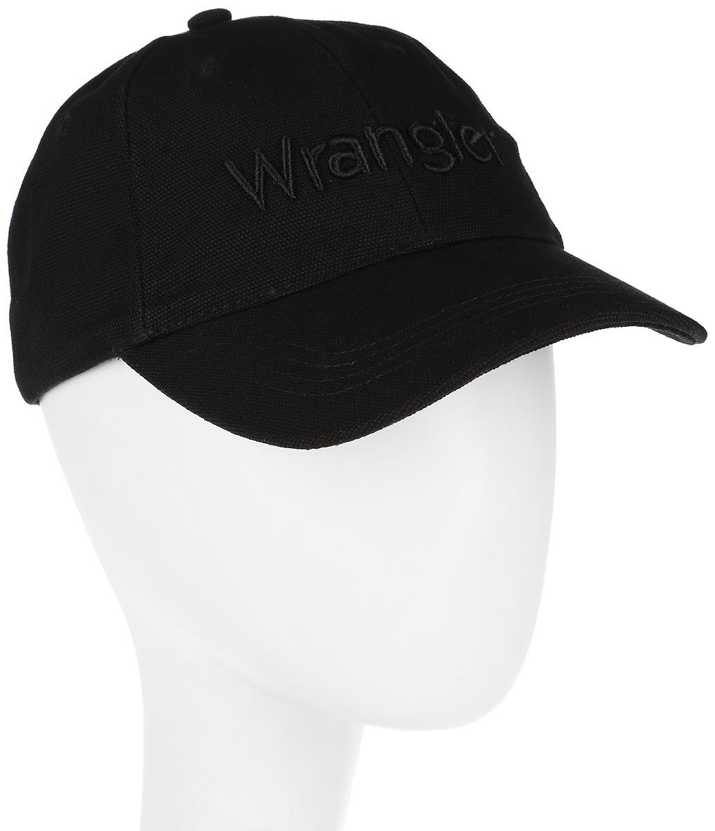 Бейсболка мужская Wrangler, цвет: черный. W0M16U501. Размер универсальныйW0M16U501Мужская бейсболка Wrangler выполнена из натурального хлопка и имеет жесткий закругленный козырек. Модель дополнена специальными отверстиями, обеспечивающими необходимую вентиляцию. Бейсболка оформлена вышивкой в виде логотипа бренда спереди. Объем бейсболки регулируется при помощи хлястиков c кнопками и перфорацией.