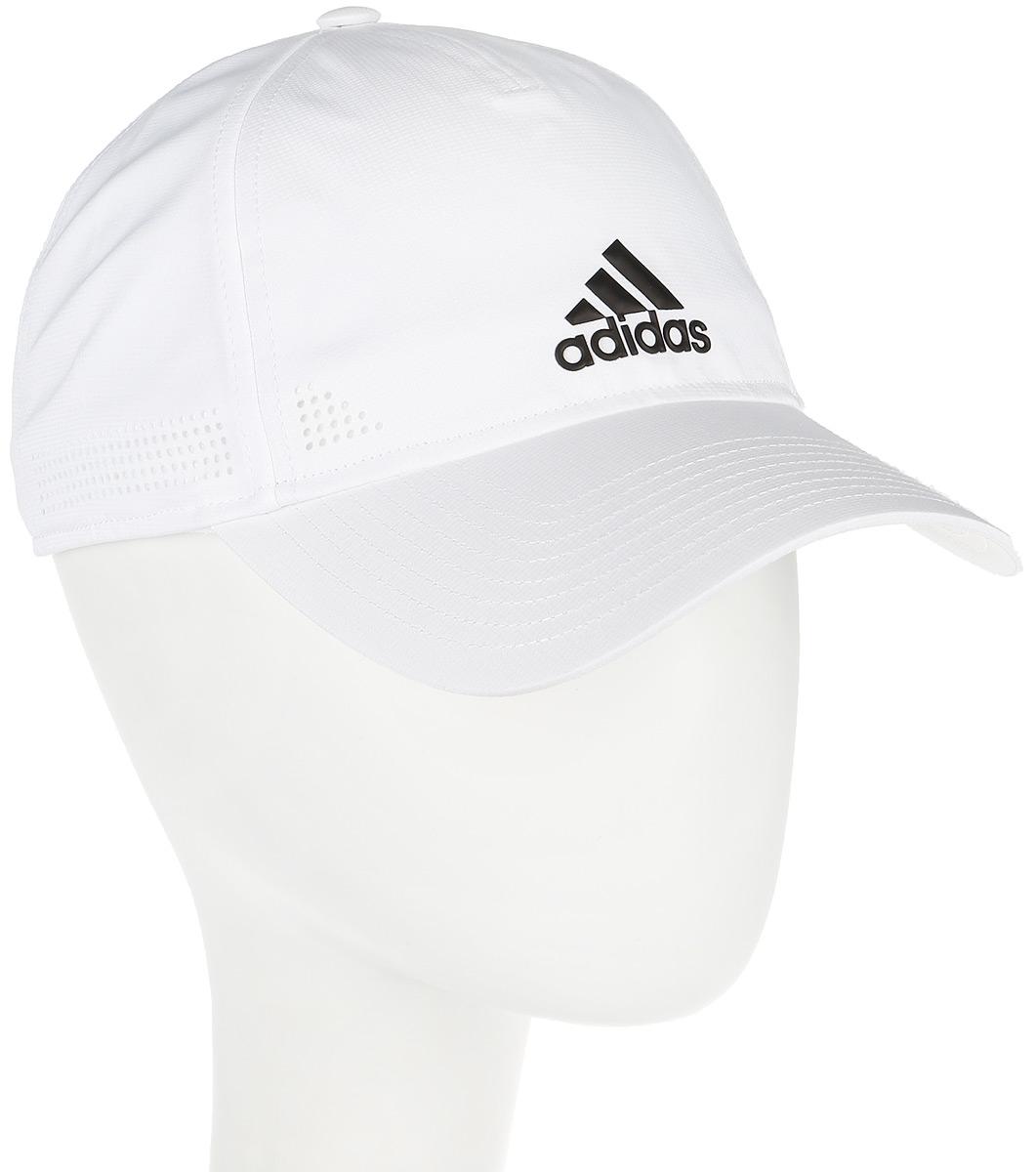 Бейсболка adidas 6P Clmco Cap, цвет: белый. S97595. Размер 58/60S97595Бейсболка adidas 6P Clmco Cap выполнена из 100% полиэстера. Модель оформлена логотипом бренда.