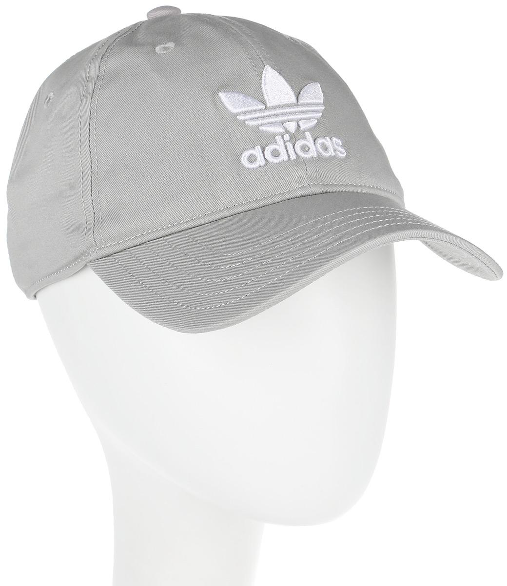 Бейсболка adidas Trefoil Cap, цвет: серый. BK7282. Размер 58/60BK7282Бейсболка adidas Trefoil Cap выполнена из полиэстера и хлопка. Модель с изогнутым козырьком оформлена логотипом бренда.