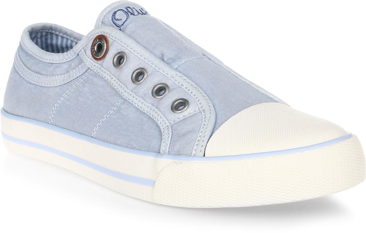 Кеды мужские S.Oliver, цвет: светло-голубой. 5-5-24635-38-810/209. Размер 405-5-24635-38-810/209Низкие удобные кеды S.Oliver имеют традиционную плоскую подошву и изготовлены из плотной износостойкой ткани. У модели практичный прорезиненный носок. Гибкая подошва обеспечивает идеальное сцепление с разными поверхностями. Кеды прекрасно сидят на ноге и послужат отличным дополнением вашего гардероба!