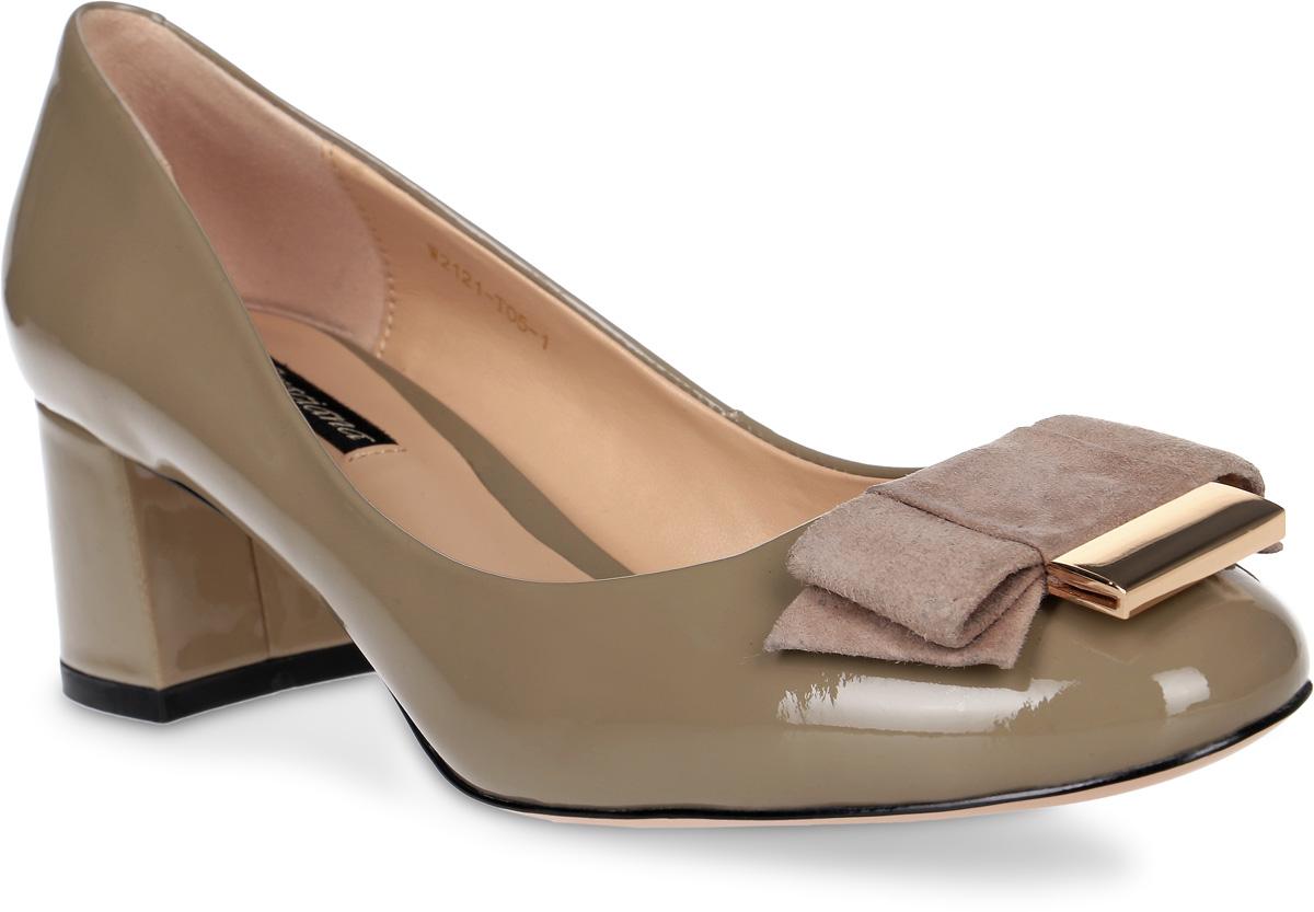 Туфли женские Graciana, цвет: т.бежевый. W2121-T05-1. Размер 37W2121-T05-1Женские туфли от Graciana на невысоком устойчивом каблуке выполнены из натуральной лаковой кожи. Модель на подъеме декорирована бантиком. Подкладка, изготовленная из натуральной кожи, обладает хорошей влаговпитываемостью и естественной воздухопроницаемостью. Стелька из натуральной кожи гарантирует комфорт и удобство стопам. Подошва из тунита износоустойчива и обеспечивает хорошее сцепление с поверхностью.
