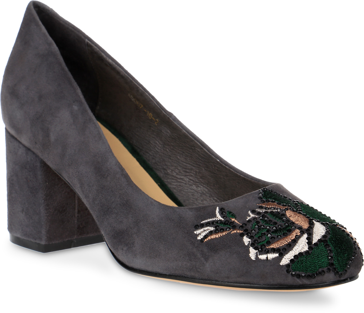 Туфли женские Graciana, цвет: серый. A5067-18-2. Размер 36A5067-18-2Женские туфли от Graciana на невысоком широком каблуке выполнены из натуральной замши. Подкладка, изготовленная из натуральной кожи, обладает хорошей влаговпитываемостью и естественной воздухопроницаемостью. Стелька из натуральной кожи гарантирует комфорт и удобство стопам. Подошва из полимерного термопластичного материала обеспечивает хорошую амортизацию и сцепление с любой поверхностью.