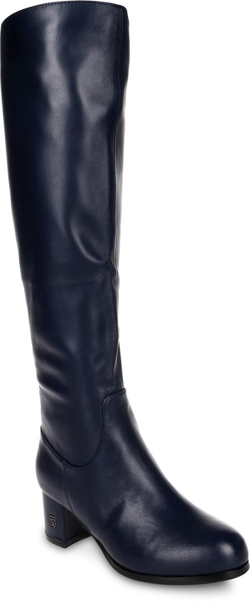 Сапоги женские Graciana, цвет: темно-синий. W2172-X01-4BM. Размер 38W2172-X01-4BMМодные женские сапоги от Graciana выполнены из натуральной кожи. Подкладка из байки и натурального меха, и стелька из натурального меха не дадут ногам замерзнуть. Застегивается модель на боковую застежку-молнию. Каблук средней высоты невероятно устойчив. Подошва и каблук дополнены рифлением.