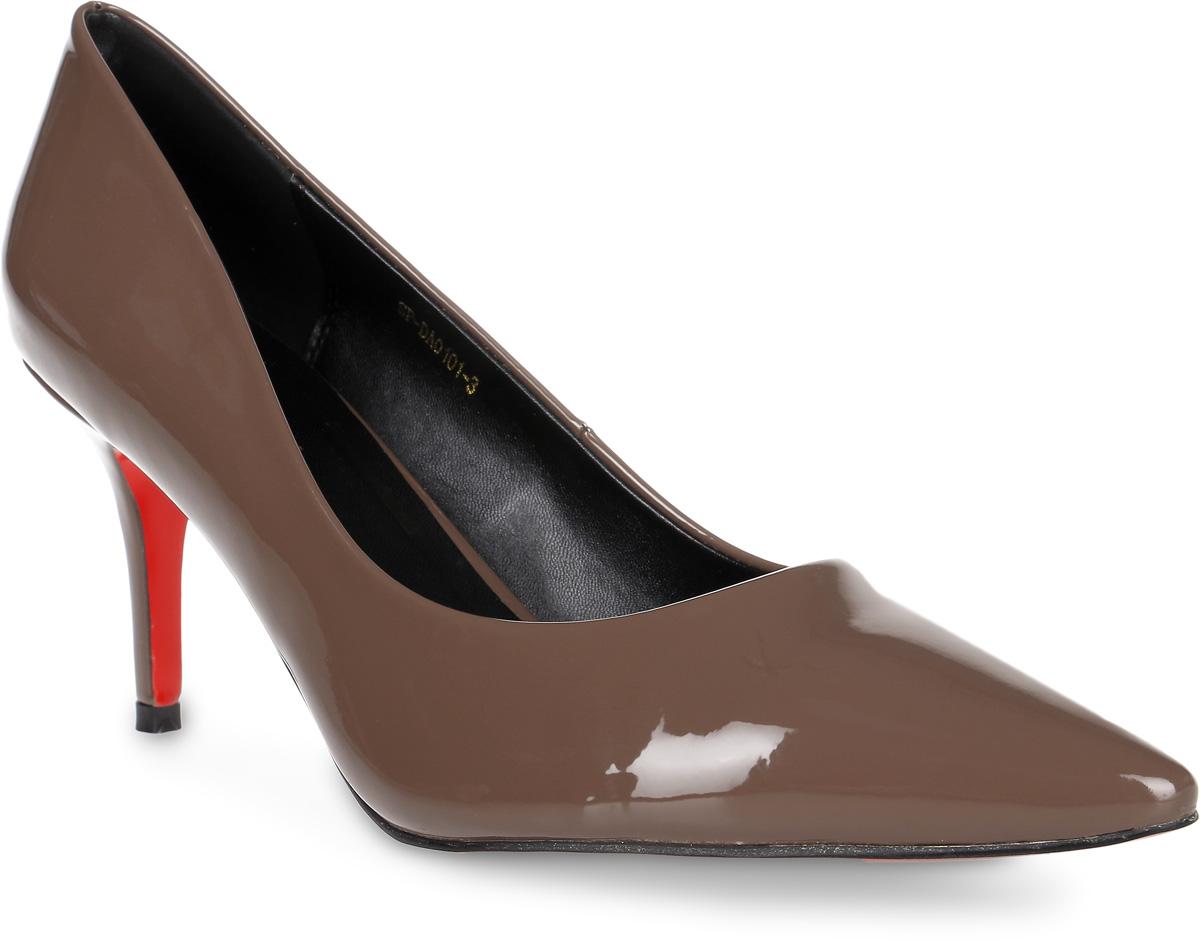 Туфли женские LK Collection, цвет: коричневый. SP-DA0101-3. Размер 37SP-DA0101-3Элегантные туфли выполнены из искусственной лаковой кожи. Стелька выполнена из натуральной кожи, которая обеспечит комфорт при движении и предотвратит натирание. Модель оснащена тоненьким устойчивым каблуком. Подошва выполнена из термопластичного материала.