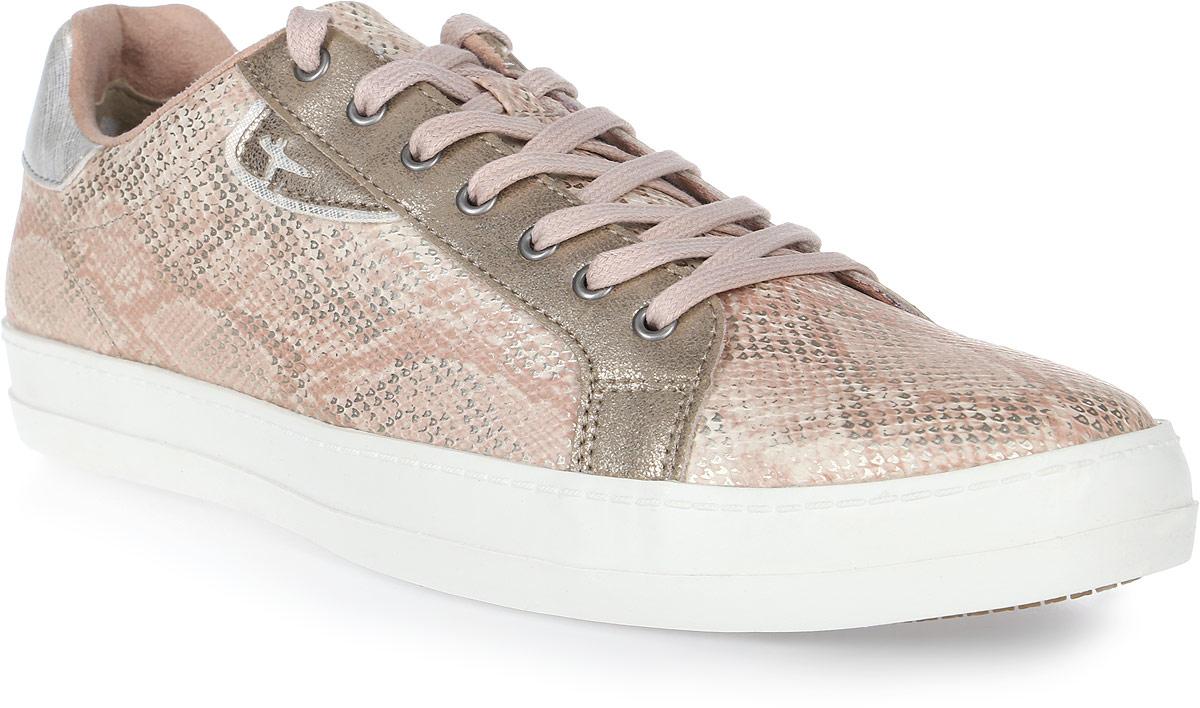 Кеды женские Tamaris, цвет: светло-розовый. 1-1-23606-28-952/225. Размер 381-1-23606-28-952/225Ультрамодные женские кеды от Tamaris покорят вас с первого взгляда! Модель выполнена из искусственной кожи. Шнуровка обеспечивает надежную фиксацию обуви на ноге. Подкладка исполнена из текстиля, стелька - из искусственной кожи. Прочная резиновая подошва с рельефным рисунком обеспечивает сцепление с любой поверхностью. Такие кеды займут достойное место в вашем гардеробе.