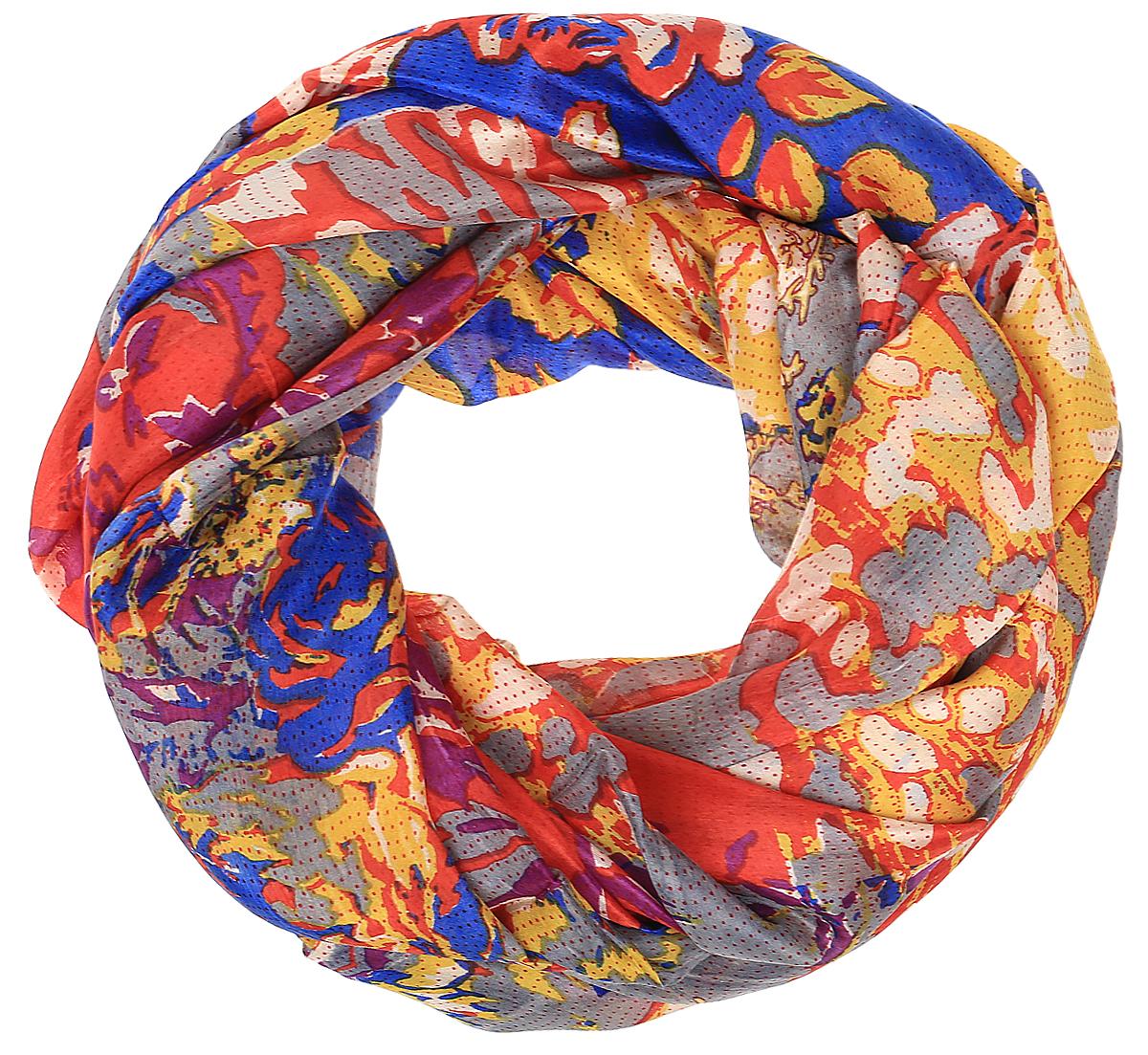 Палантин женский Michel Katana, цвет: синий, красный, желтый. S30-DENSE.FLORAL/LILAC. Размер 110 x 180 смS30-DENSE.FLORAL/LILACСтильный женский палантин от Michel Katana станет великолепным завершением любого наряда. Палантин изготовлен из шелка и оформлен ярким принтом. По краям модель дополнена неширокой бахромой. Изящный палантин поможет вам создать изысканный женственный образ, а также согреет в непогоду.