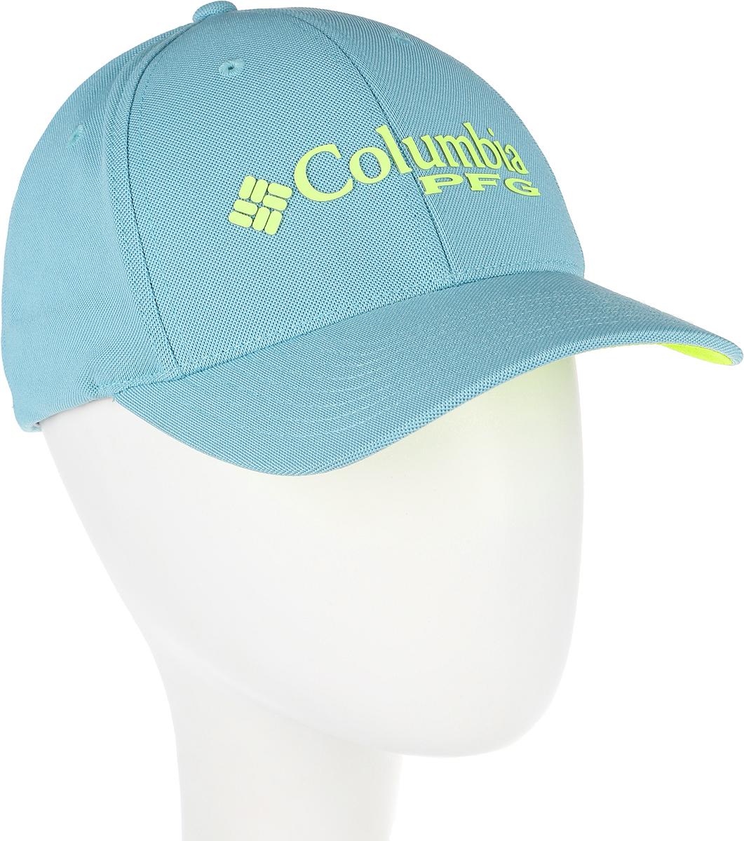 Бейсболка Columbia PFG Mesh Pique Ballcap, цвет: голубой. 1577481-909. Размер S/M (56/57)1577481-909Стильная бейсболка Columbia, выполненная из высококачественных материалов, идеально подойдет для прогулок, занятия спортом и отдыха. Она надежно защитит вас от солнца и ветра. Изделие оформлено принтом с логотипом бренда.