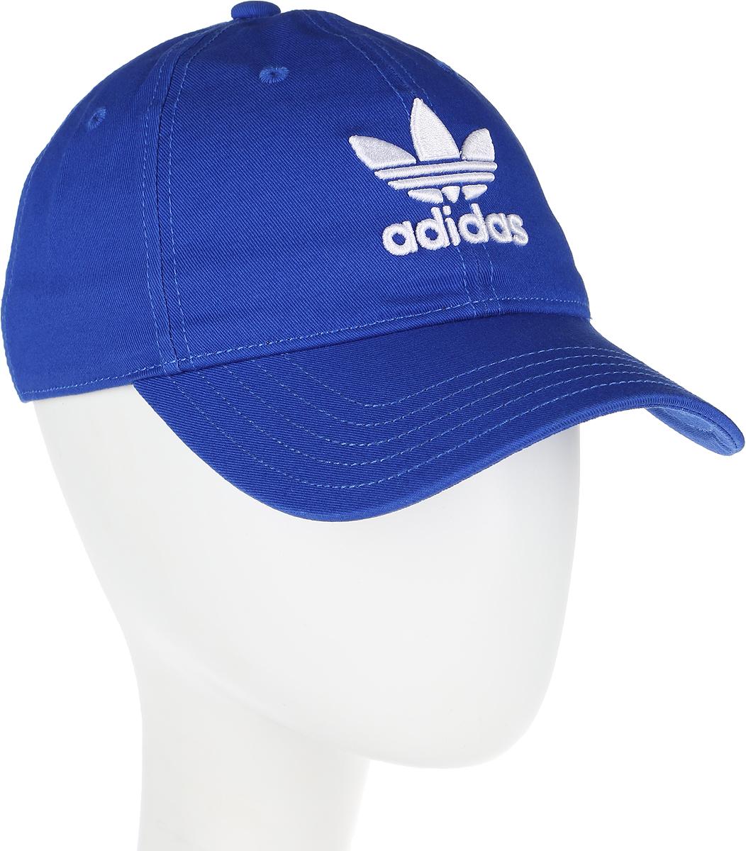 Бейсболка adidas Trefoil Cap, цвет: голубой. BK7271. Размер 60/62BK7271Бейсболка adidas Trefoil Cap выполнена из полиэстера и хлопка. Модель с изогнутым козырьком оформлена логотипом бренда.