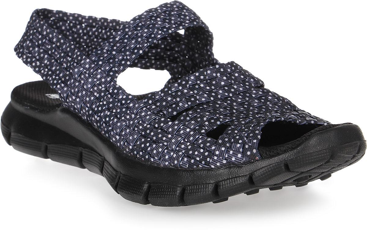 Сандалии женские Spur, цвет: темно-синий. SM3830_01_11. Размер 41SM3830_01_11Удобные женские сандалии предназначены для спорта и повседневной носки. Модель выполнена из плотного материала.Резиновая подошва с рельефной поверхностью обеспечивает отличное сцепление с любыми поверхностями.