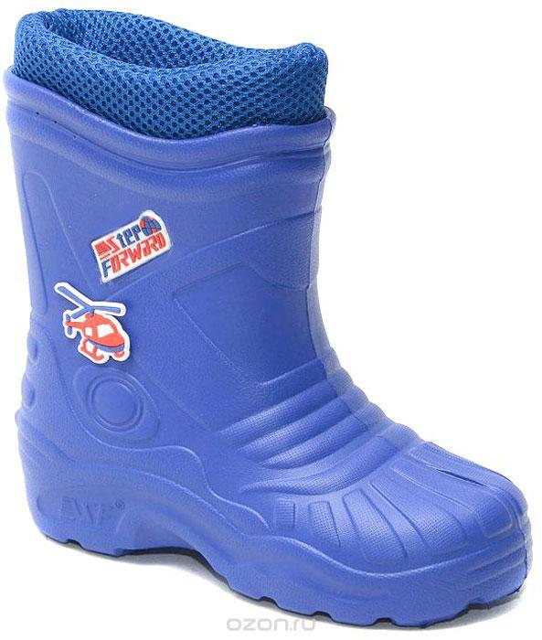 Сапоги резиновые для мальчика Step Forward, цвет: темно-синий. Т-102В-А17. Размер 33Т-102В-А17Детские резиновые сапоги для мальчиков от Step Forward - идеальный вариант для дождливой холодной погоды! Модель изготовлена из материала ЭВА. Отсутствие швов гарантирует максимальную прочность и 100% защиту от воды и грязи.