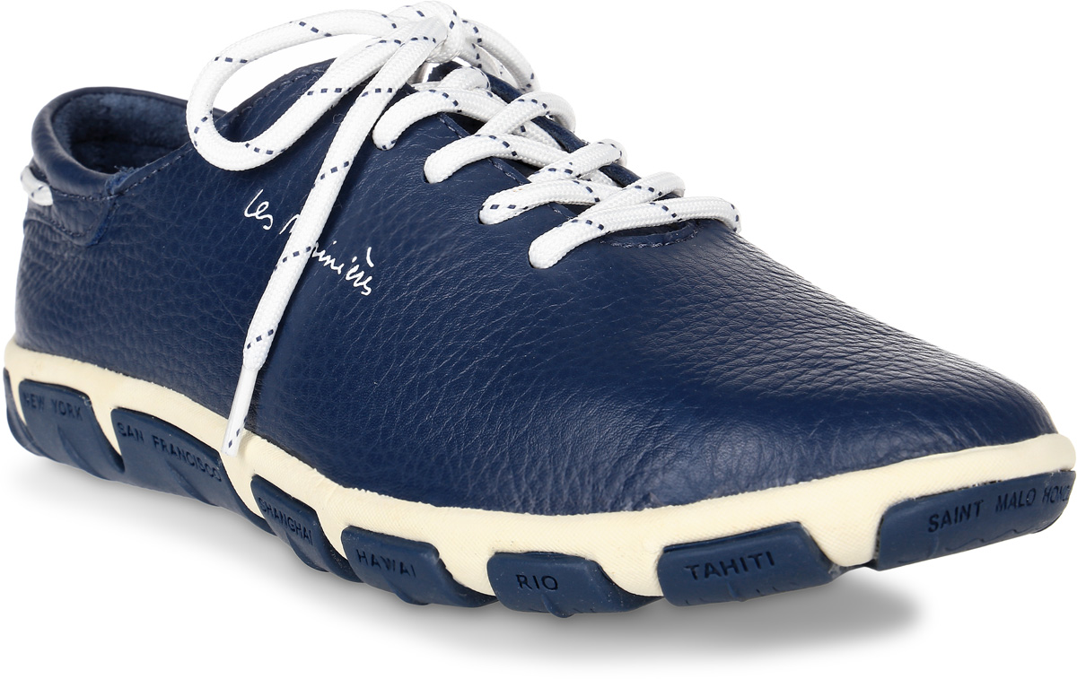 Кроссовки женские TBS Jazaru, цвет: темно-синий. JAZARU-B7342. Размер 41 (40)JAZARU-B7342Стильные женские кроссовки Jazaru от TBS - это легкость и свобода движения каждый день! Функциональные, практичные, удобные, они подходят для городской жизни и активного отдыха. Дизайн обуви позволяет носить ее под одежду любого стиля. Модель выполнена из натуральной кожи. Внутренняя отделка и стелька также исполнены из кожи. Шнуровка контрастного цвета надежно фиксирует изделие на ноге. Резиновая подошва с рельефной поверхностью обеспечивает идеальное сцепление. В таких кроссовках вы всегда будете выглядеть модно и стильно и, конечно же, не останетесь незамеченной.