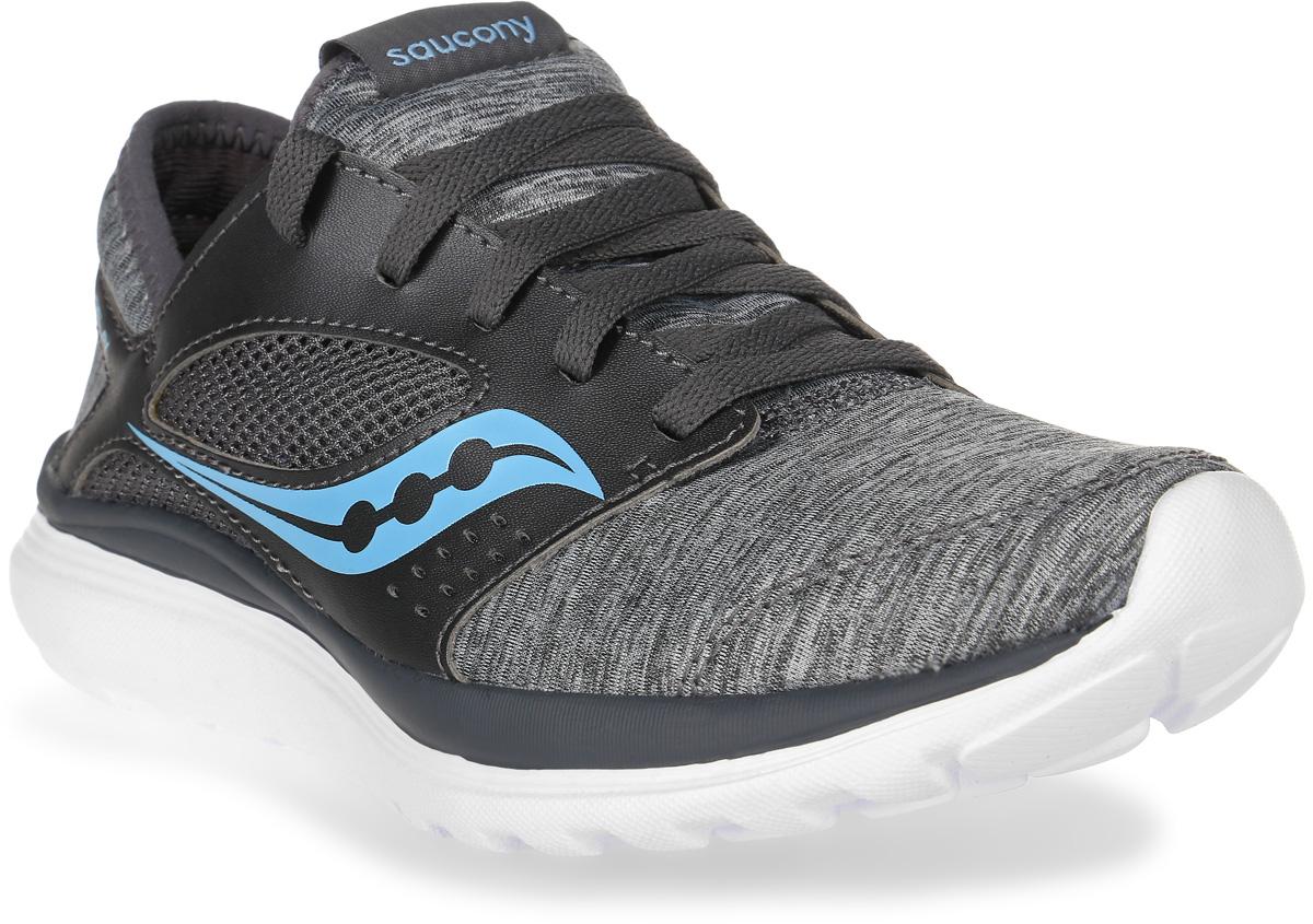 Кроссовки для бега женские Saucony Kineta Relay, цвет: серый. S15244-10. Размер 6,5 (36)S15244-10Женские кроссовки для бега Saucony Kineta Relay выполнены из сетчатого нейлона и дополнены вставками из искусственной кожи. Язычок оформлен логотипом бренда, по бокам расположены контрастные декоративные элементы. Обувь фиксируется на ноге при помощи классической шнуровки. Подкладка выполнена из текстиля. Стелька Form2U изготовлена из вспененного полимера с эффектом памяти. Подошва выполнена из резины и дополнена рифлением.