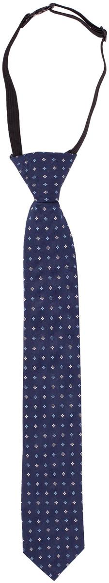 Галстук для мальчика Gulliver, цвет: темно-синий. 217GSBC8601. Размер 122/140217GSBC8601Красивый галстук для школьной формы - достойное завершение делового ансамбля. Для удобства и экономии драгоценного утреннего времени, модель имеет аккуратную прищепку в невидимой зоне, позволяющую в течение нескольких секунд прикрепить галстук к воротнику рубашки. Купить галстук на прищепке, значит, приобрести стильный и удобный аксессуар для создания образа серьезного, уверенного в себе юноши.
