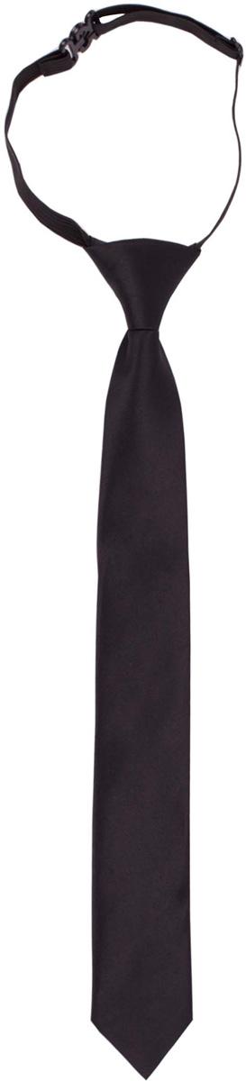 Галстук для мальчика Gulliver, цвет: черный. 217GSBC8602. Размер 122/140217GSBC8602Красивый галстук для школьной формы - достойное завершение делового ансамбля. Для удобства и экономии драгоценного утреннего времени, модель имеет аккуратную прищепку в невидимой зоне, позволяющую в течение нескольких секунд прикрепить галстук к воротнику рубашки. Купить галстук на прищепке, значит, приобрести стильный и удобный аксессуар для создания образа серьезного, уверенного в себе юноши.