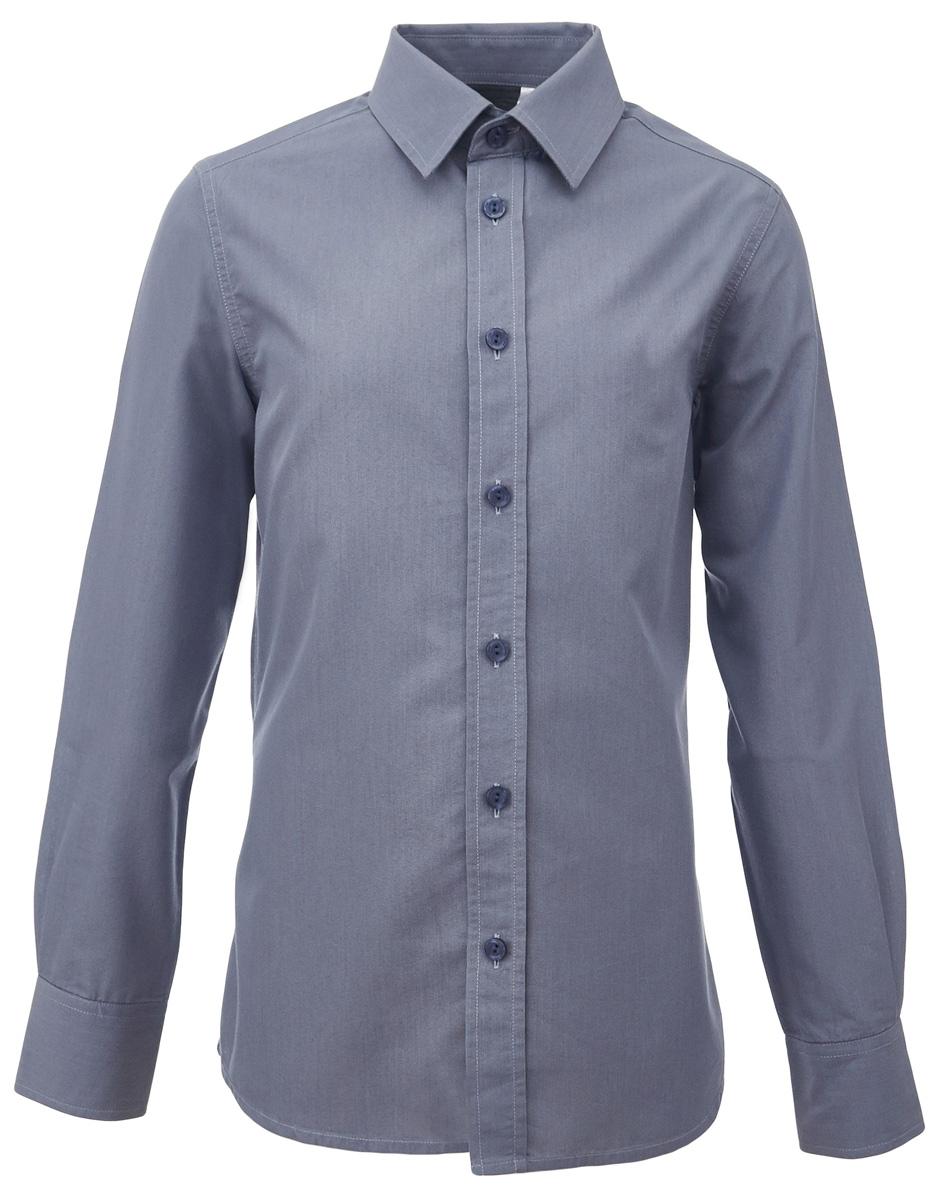 Рубашка для мальчика Gulliver, цвет: серый. 217GSBC2304. Размер 170217GSBC2304При всем богатстве выбора, купить рубашку для мальчика высокого качества не очень просто. Школьная рубашка должна отлично выглядеть, хорошо сидеть, соответствовать актуальной форме, быть всегда свежей, выглаженной и опрятной. Именно поэтому состав, плотность и текстура материала имеют большое значение! Хорошая школьная рубашка - достойное дополнение к костюму. Ребенок в ней - настоящий мужчина, с серьезным и ответственным подходом к делу. Рубашка от Gulliver - это качество, элегантность, комфорт, легкость в уходе.