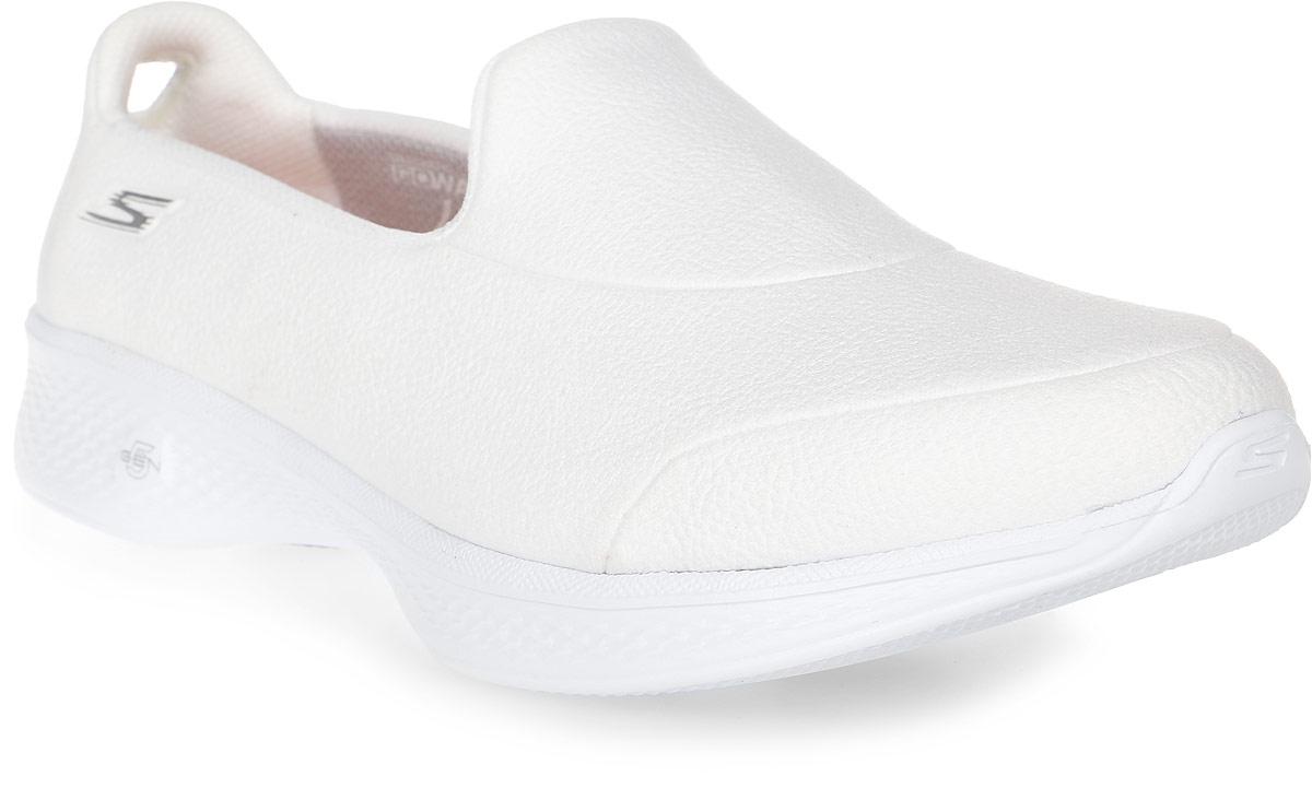 Кроссовки женские Skechers Go Walk 4 - Inspire, цвет: белый. 14166-WHT. Размер 9,5 (41)14166-WHTСтильные женские кроссовки Skechers отлично подойдут для активного отдыха и повседневной носки. Верх модели выполнен из текстиля. Подошва обеспечивает легкость и естественную свободу движений. Мягкие и удобные, кроссовки превосходно подчеркнут ваш спортивный образ и подарят комфорт.